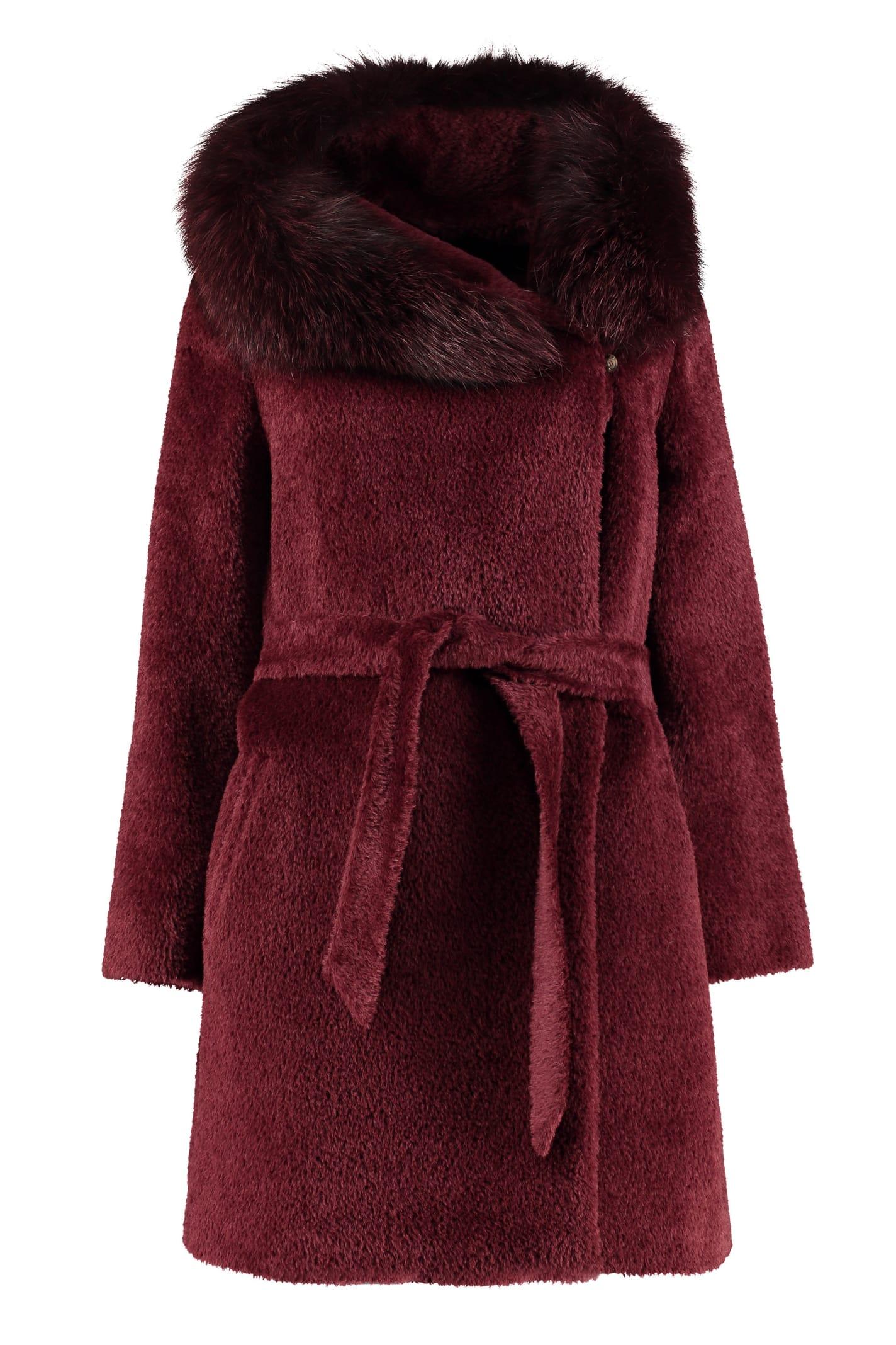 Max Mara Studio Osmio Hooded Alpaca-blend Coat