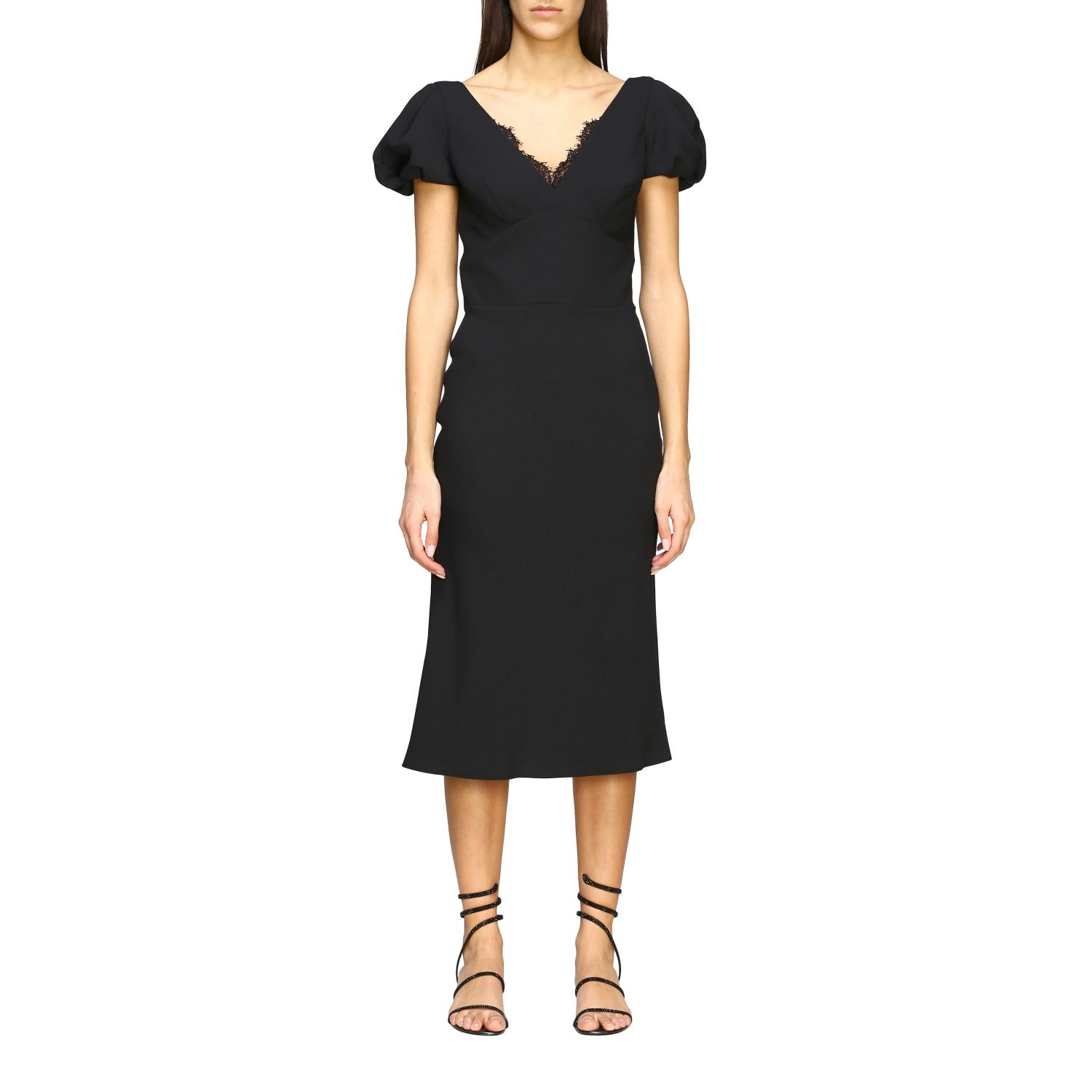 Buy Ermanno Scervino Dress Ermanno Scervino Cady Dress With Lace Details online, shop Ermanno Scervino with free shipping