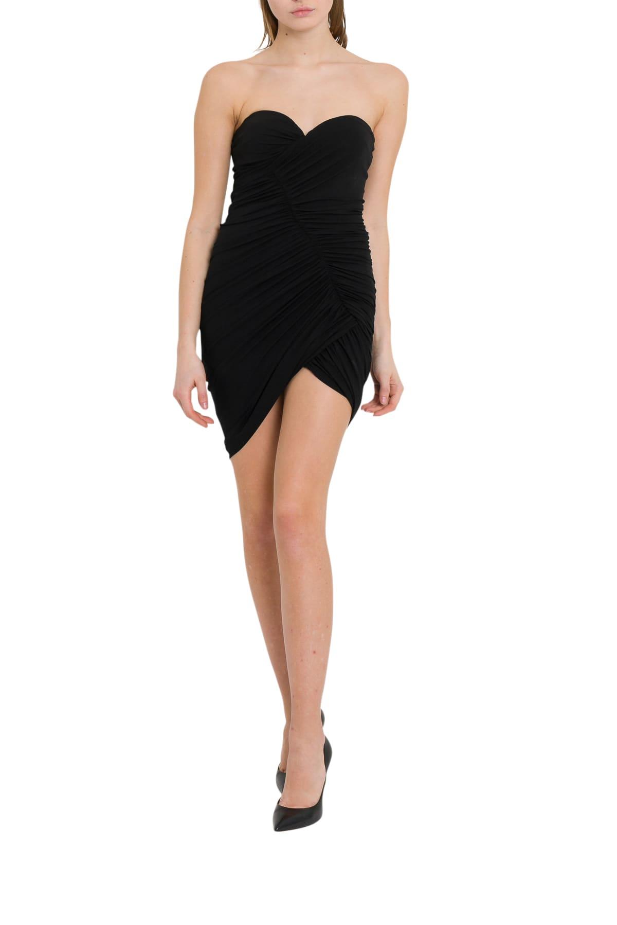 Photo of  Alexandre Vauthier Asymmetric Dress With Draping And Slit- shop Alexandre Vauthier  online sales