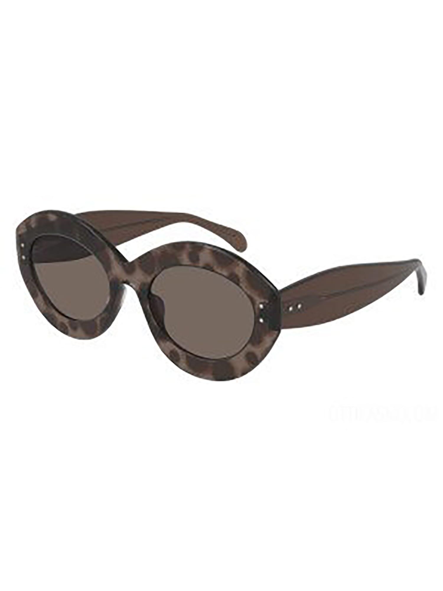 Alaïa Aa0004s Sunglasses In Brown Brown Brown