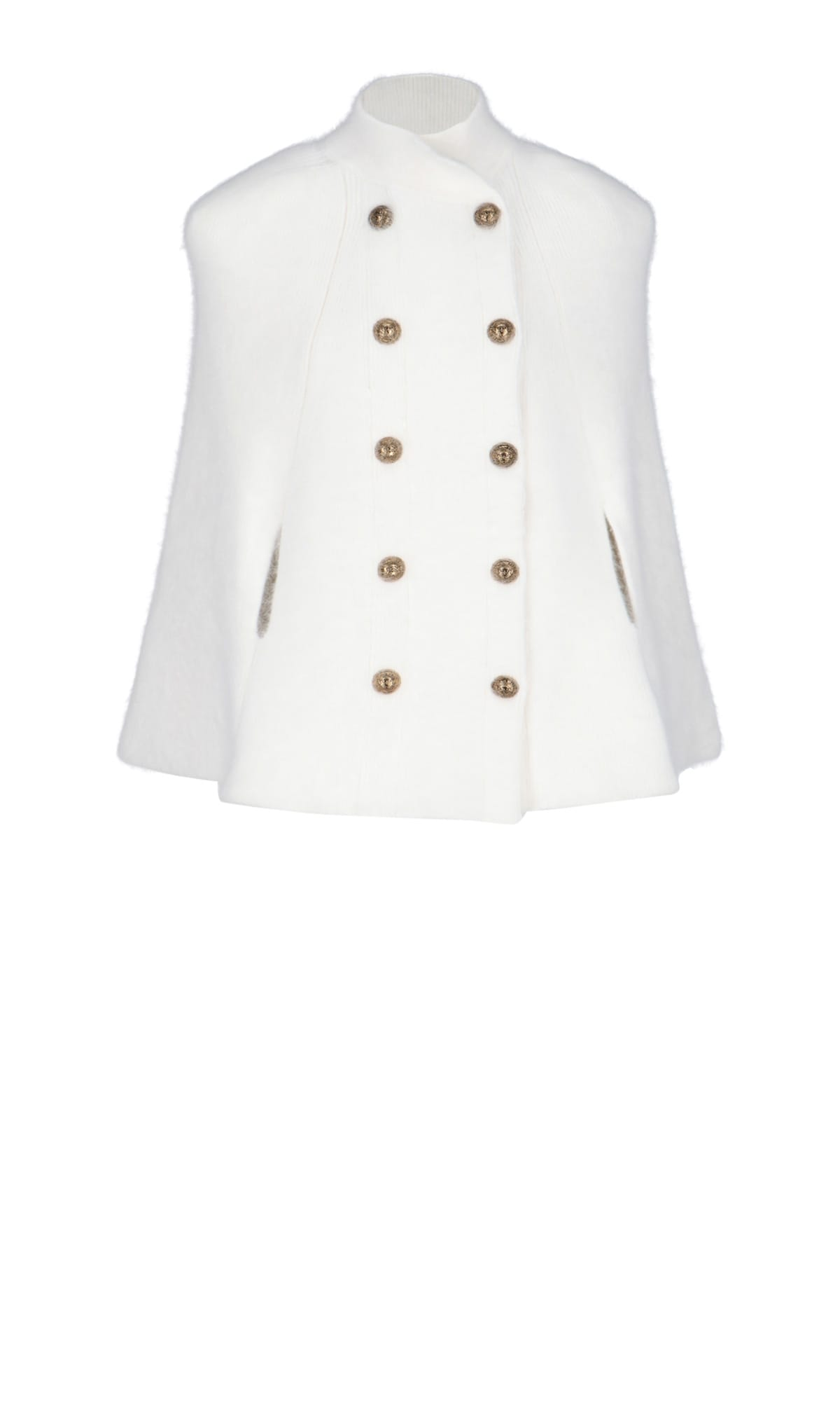 Balmain Wools DOUBLE-BREASTED CAPE