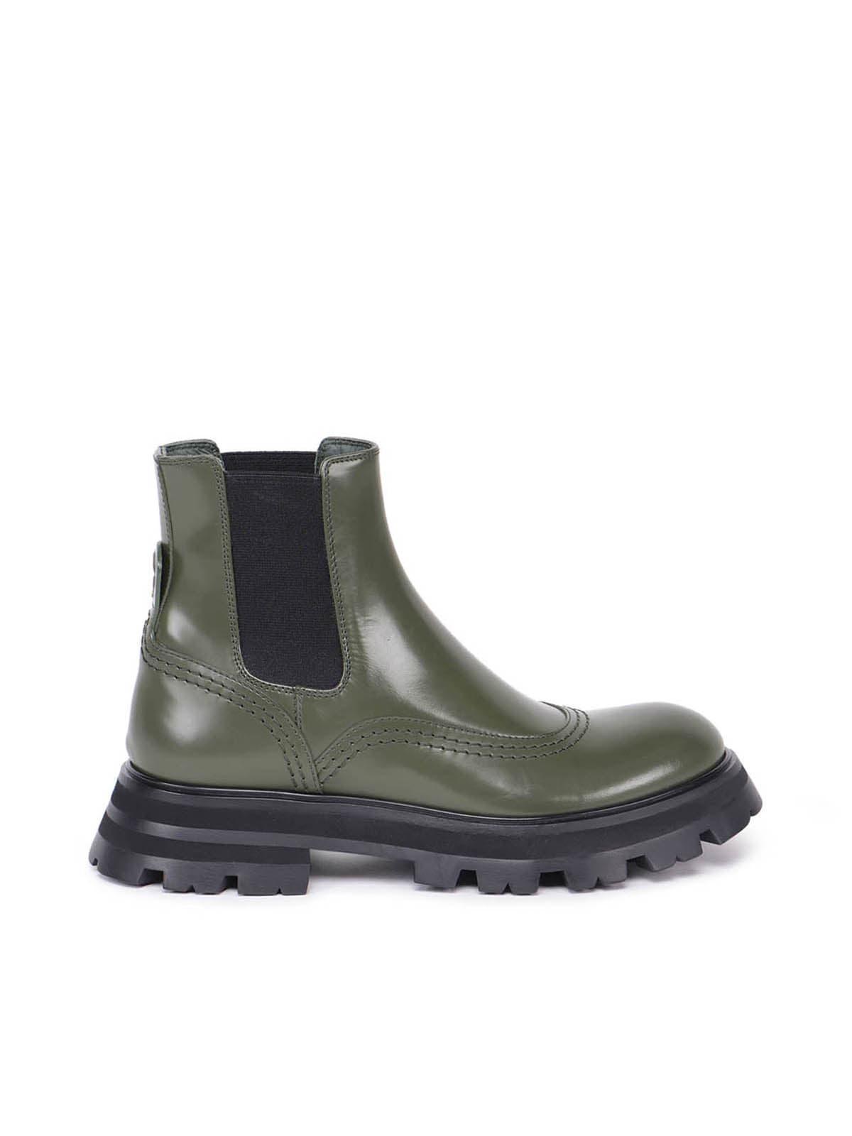Alexander McQueen Elastic Leather Upper Sneakers