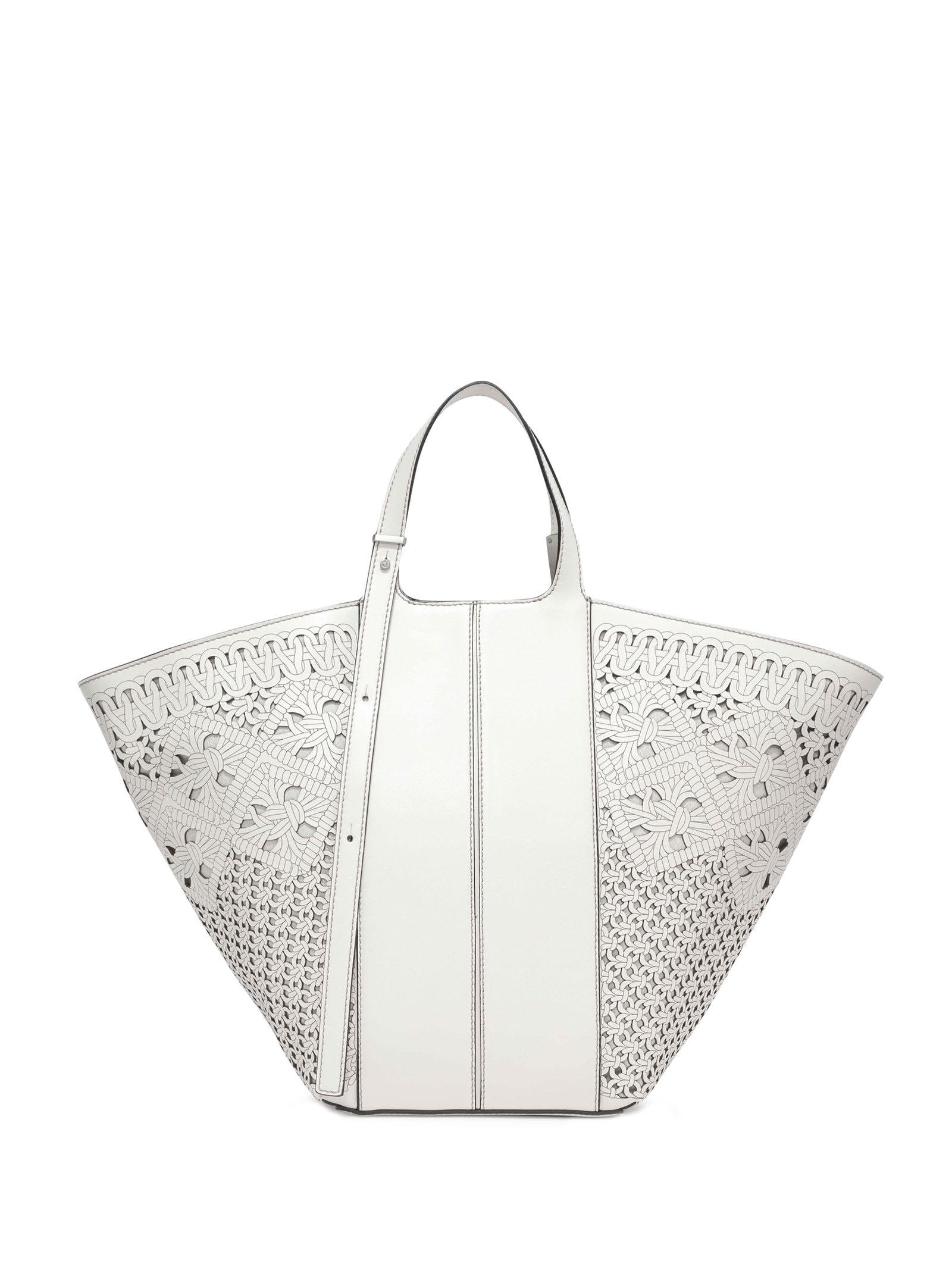 Diletta White Shopping Bag