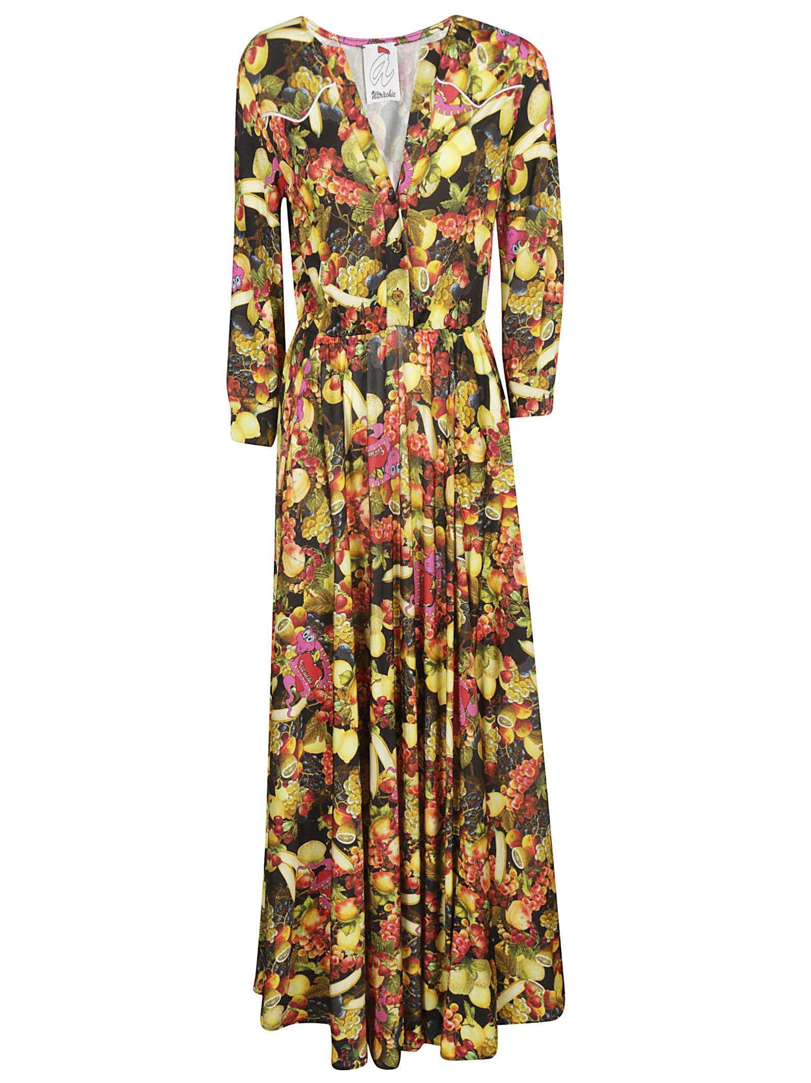 Ultrachic Fruits Printed Maxi Dress