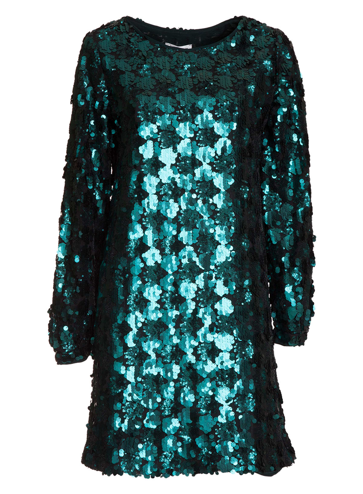 Essentiel Bottle Green Sequined Mini Dress