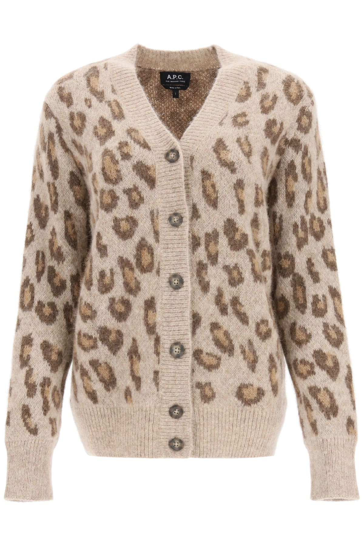 A.P.C. ERIKA ANIMAL CARDIGAN