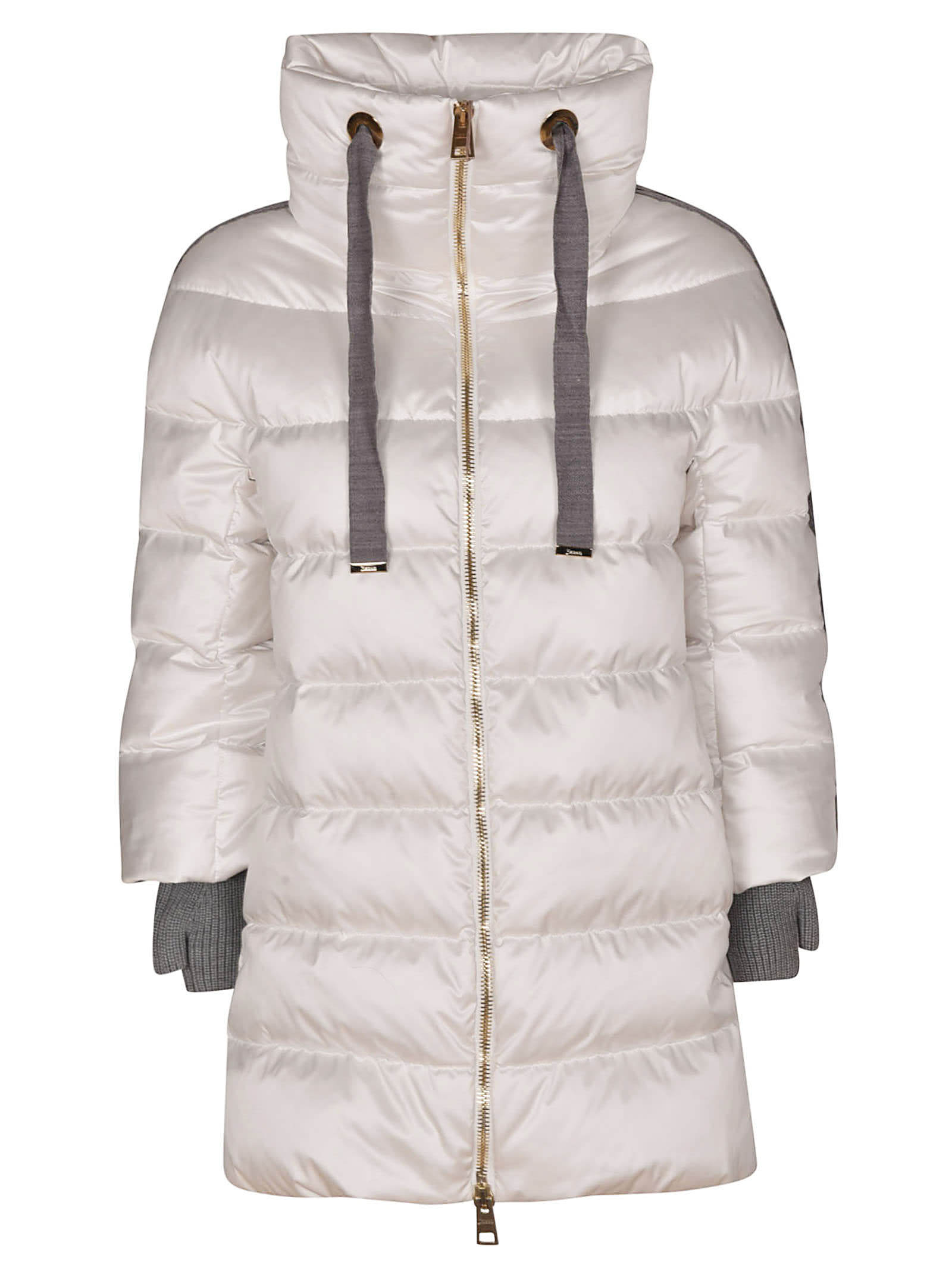 Herno Contrast Sleeve Down Jacket
