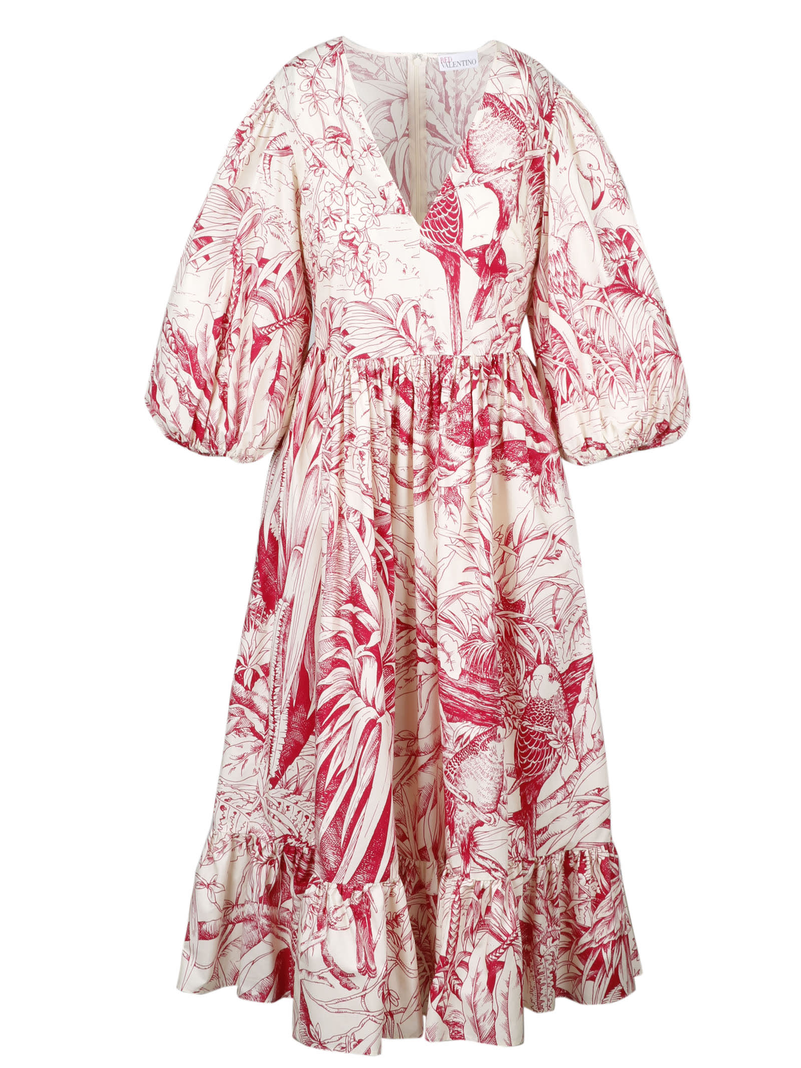 Buy Printed Midi Dress online, shop RED Valentino with free shipping