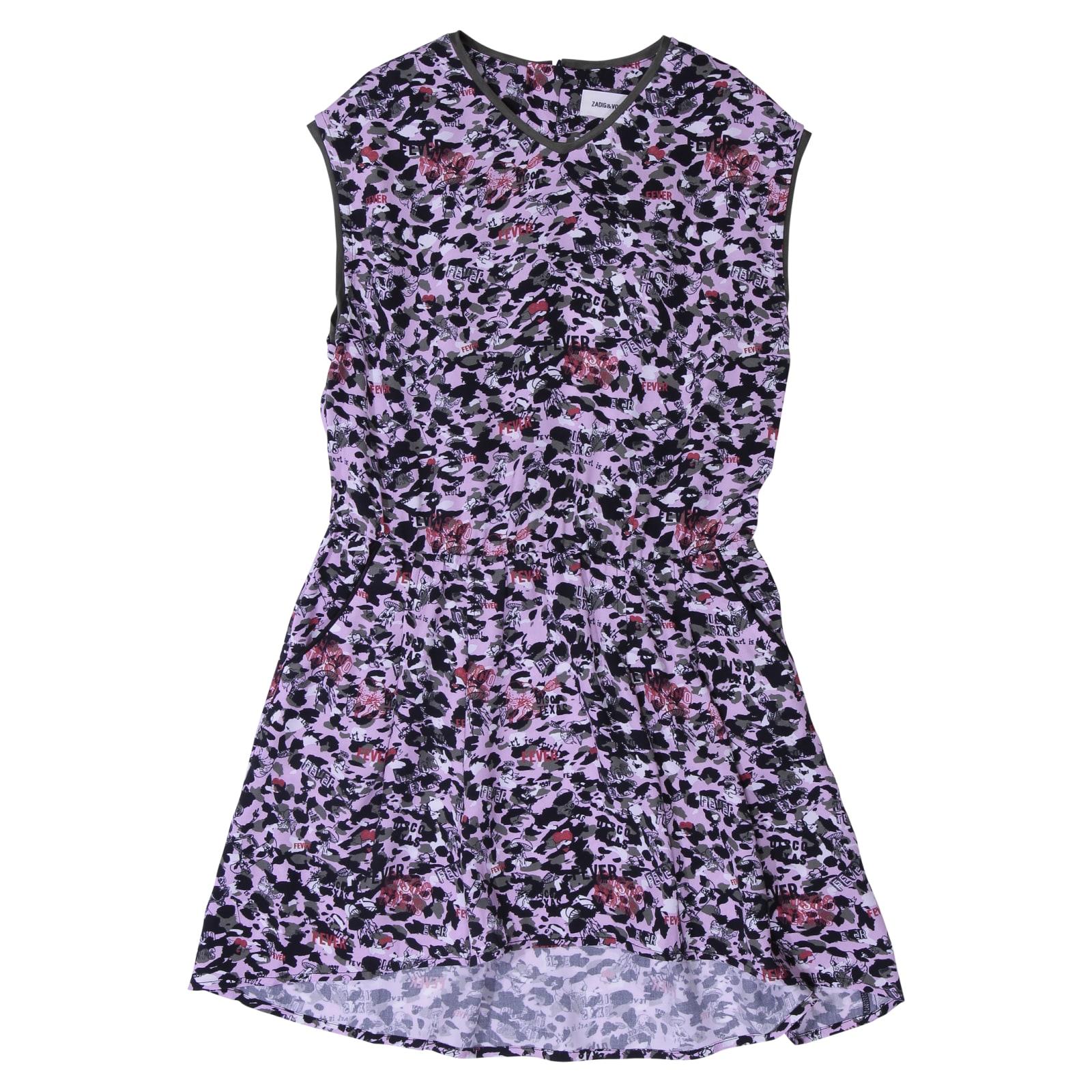 Zadig & Voltaire Printed Pink Viscose Dress