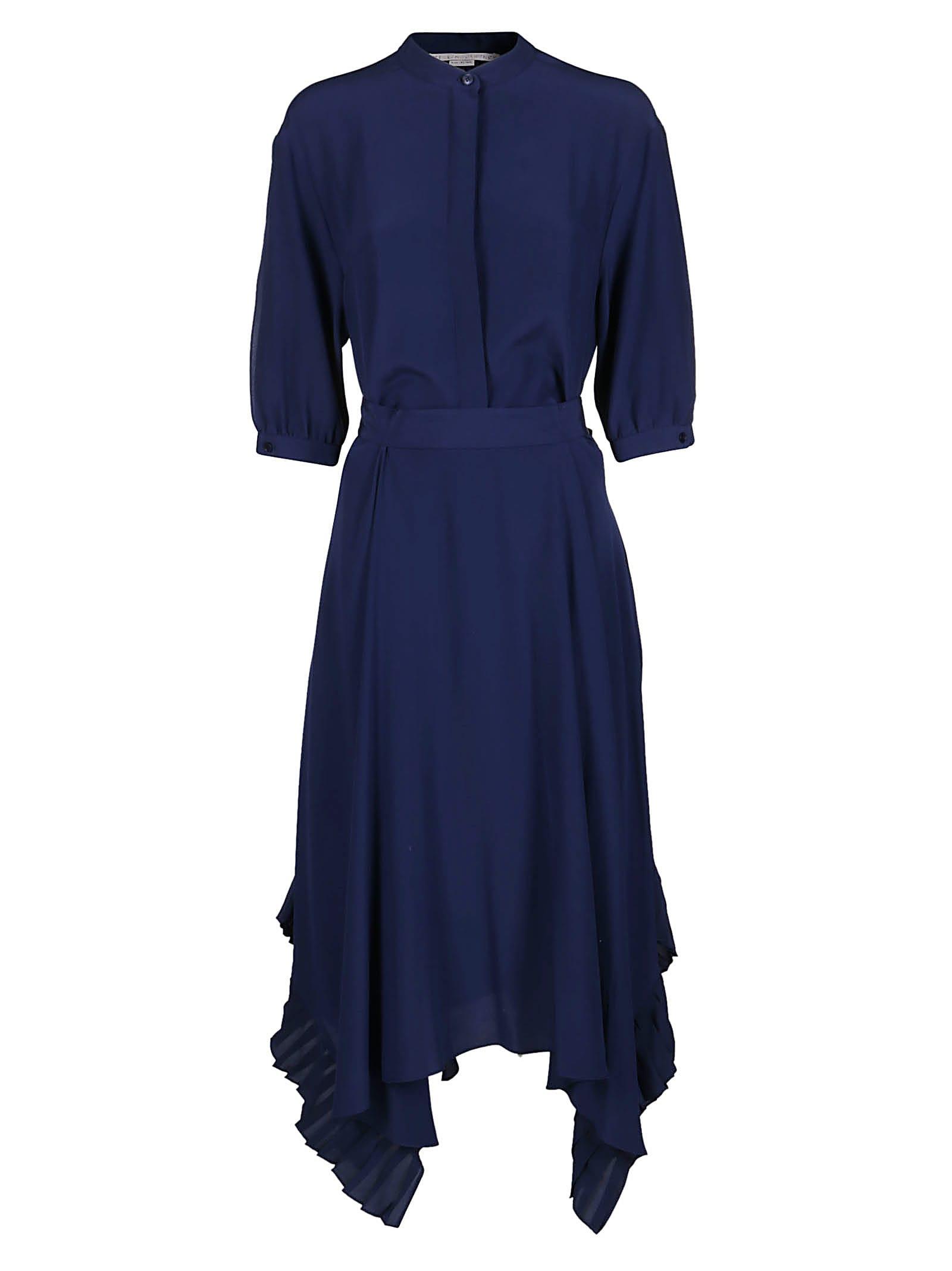 Stella McCartney Blue Silk Dress