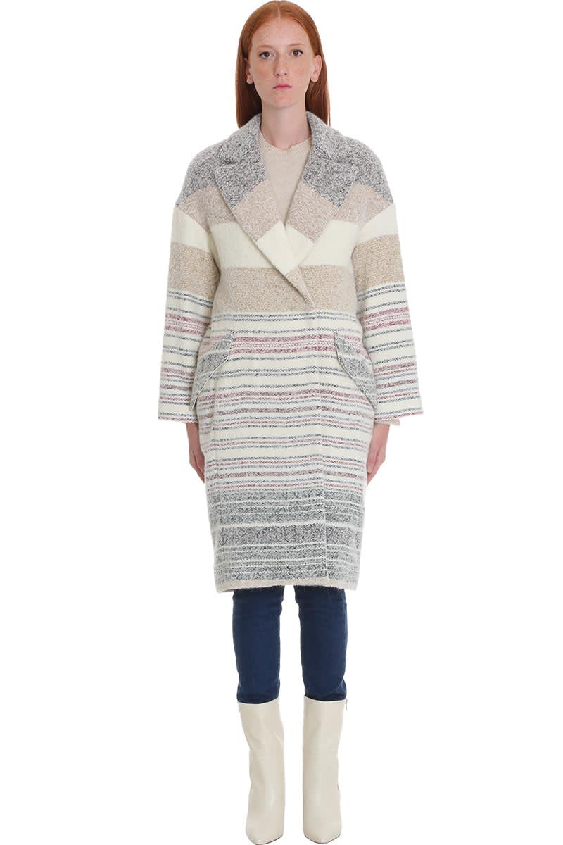IRO Loux Coat In Beige Wool