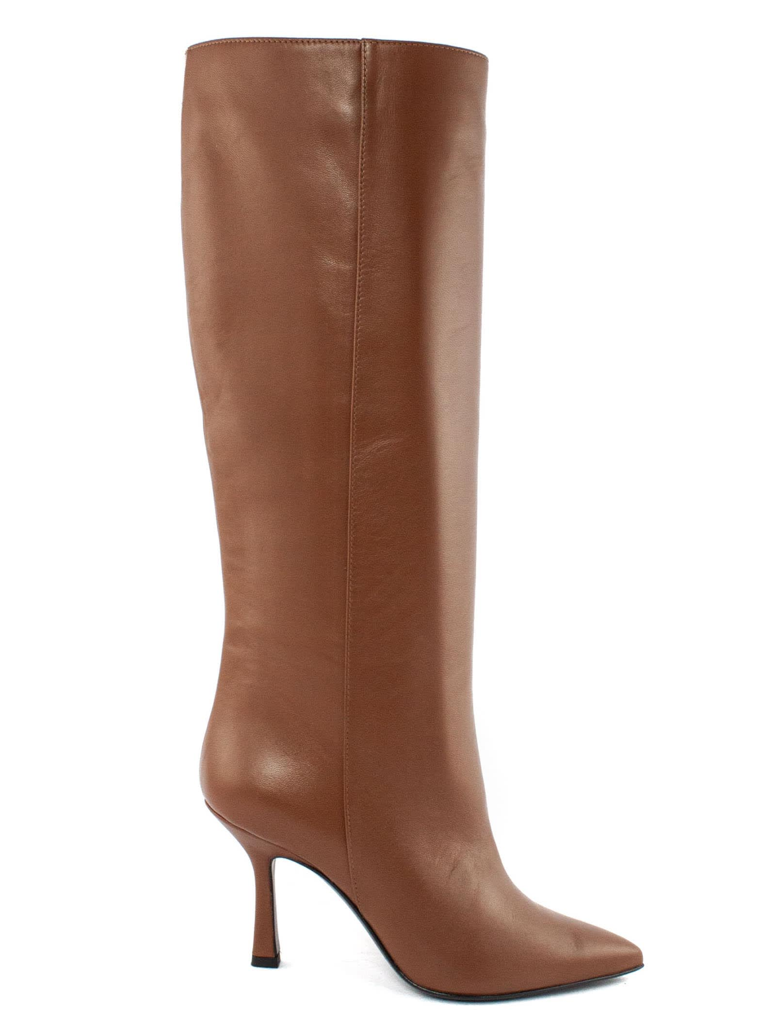 Paola High Boot In Brown Leather