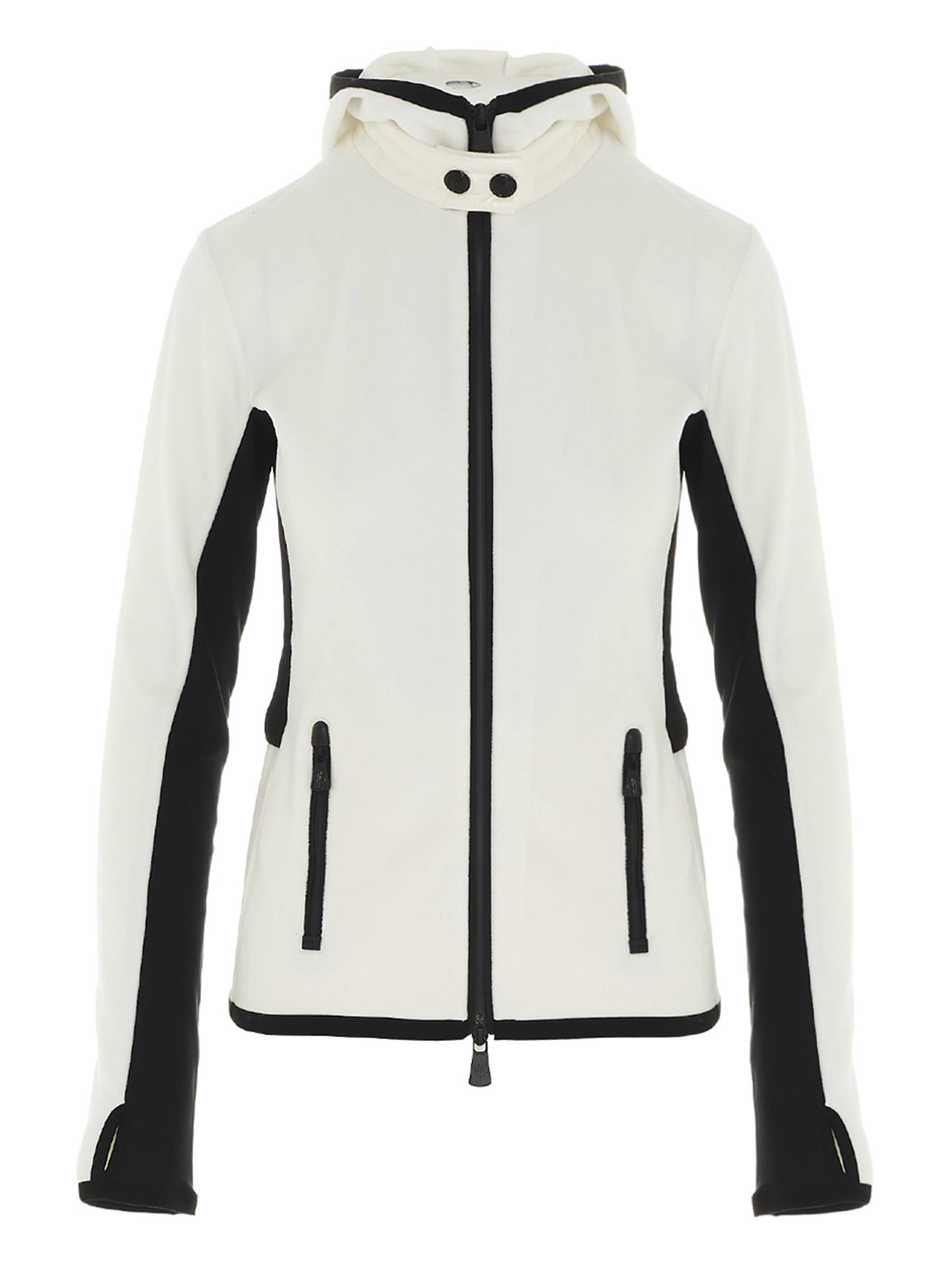 Moncler Grenoble Cardigan In Black & White