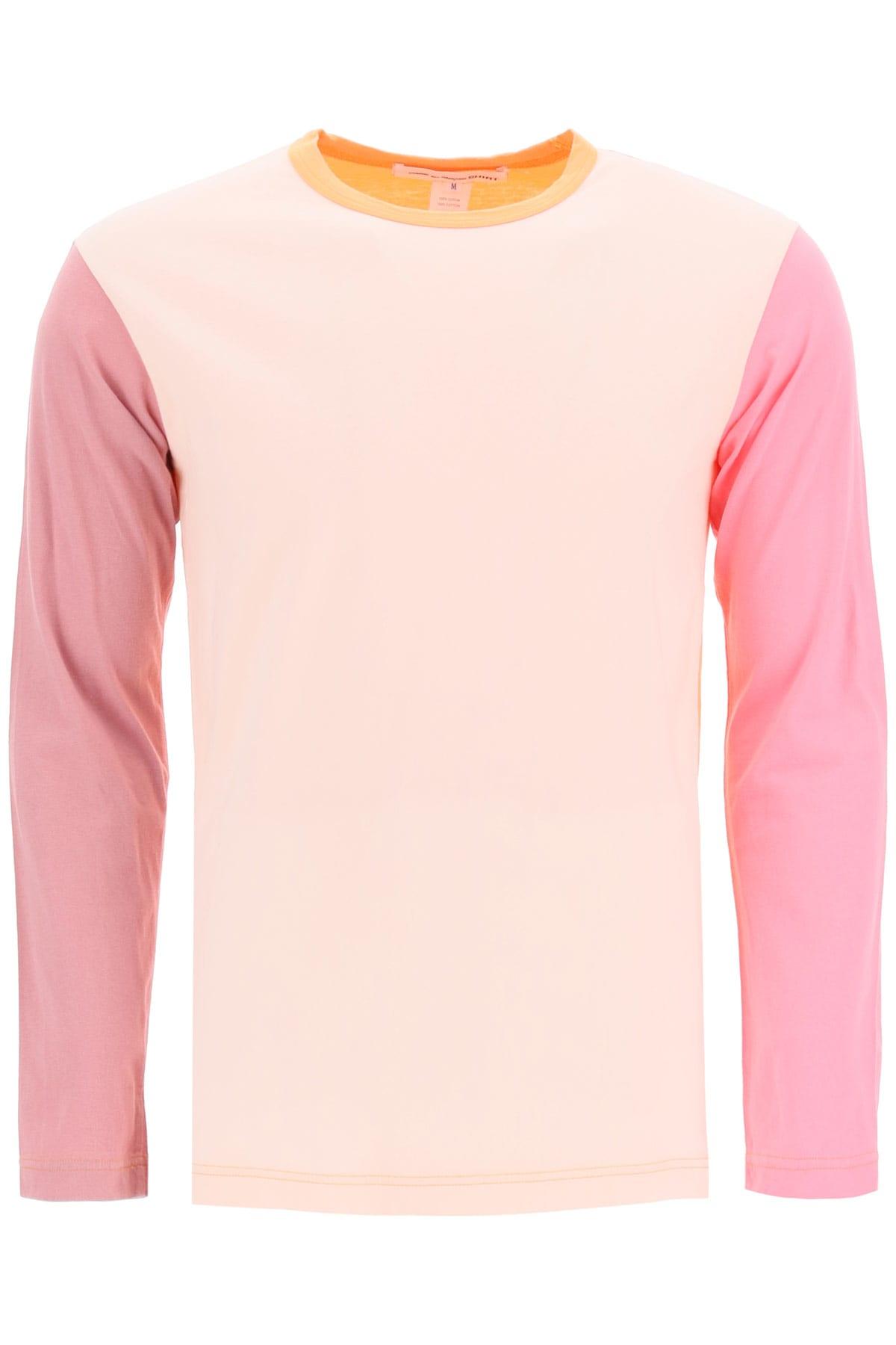 Comme Des Garçons Shirt COLOR BLOCK LOGO T-SHIRT