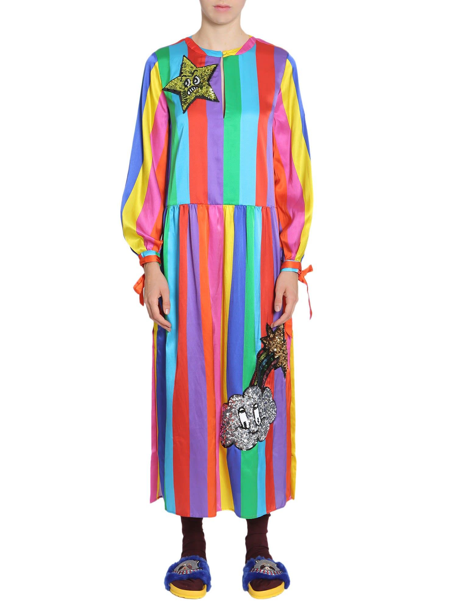 Photo of  Mira Mikati Silk Blend Rainbow Dress- shop Mira Mikati  online sales
