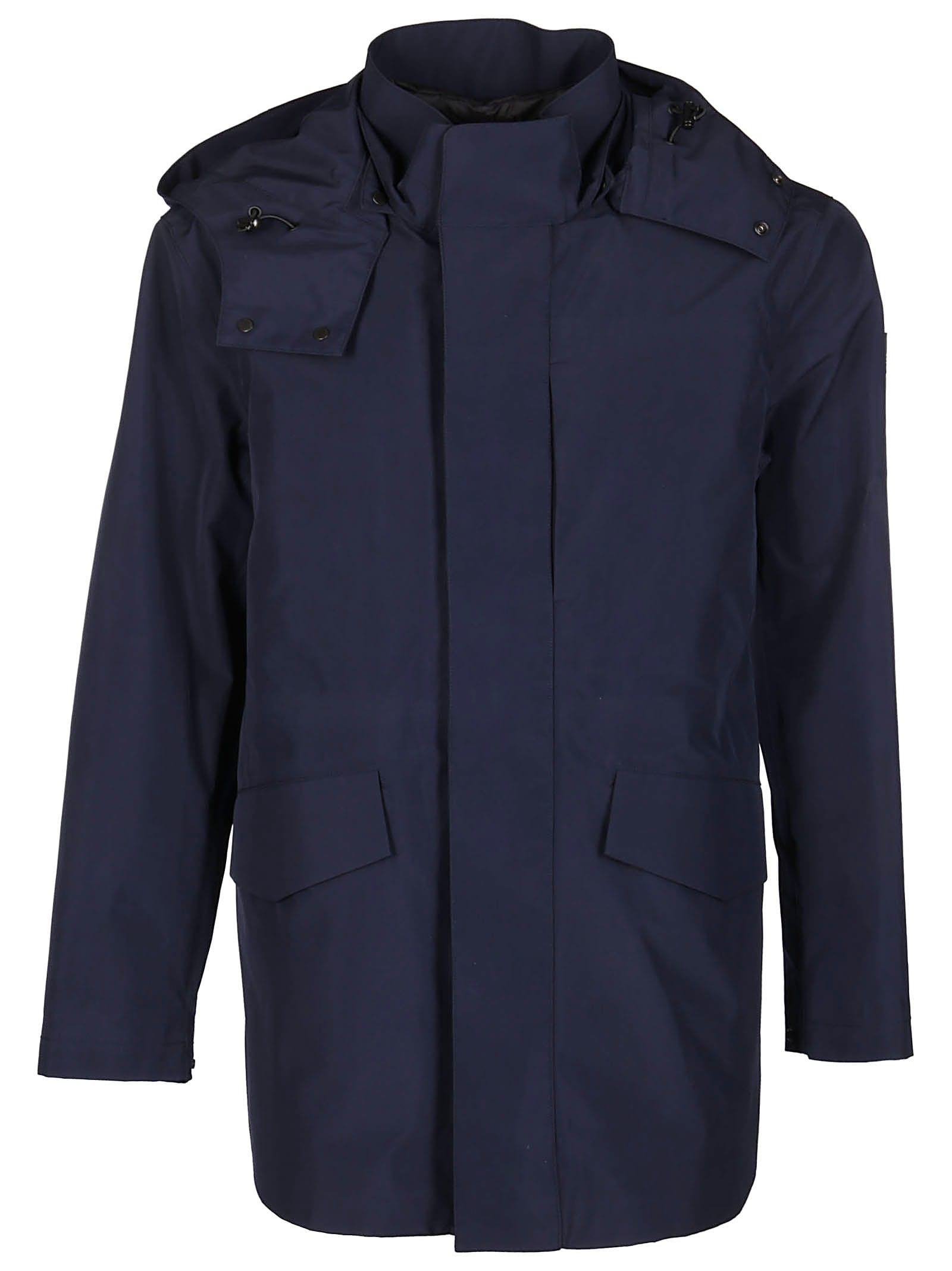Woolrich Navy Blue Padded Coat