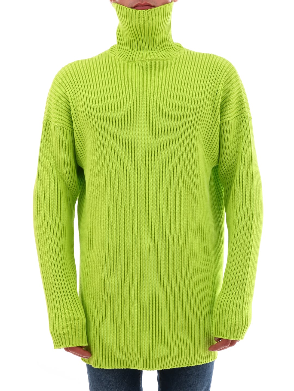 finest selection d79ff 409e7 Best price on the market at italist | Balenciaga Balenciaga Yellow Oversize  Pullover
