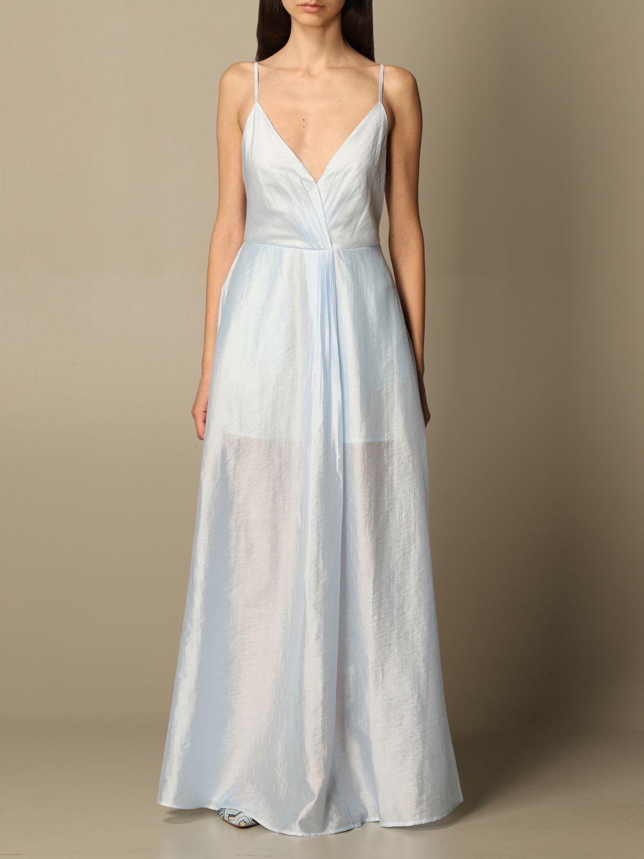 Buy Emporio Armani Dress Emporio Armani V-neck Long Dress online, shop Emporio Armani with free shipping
