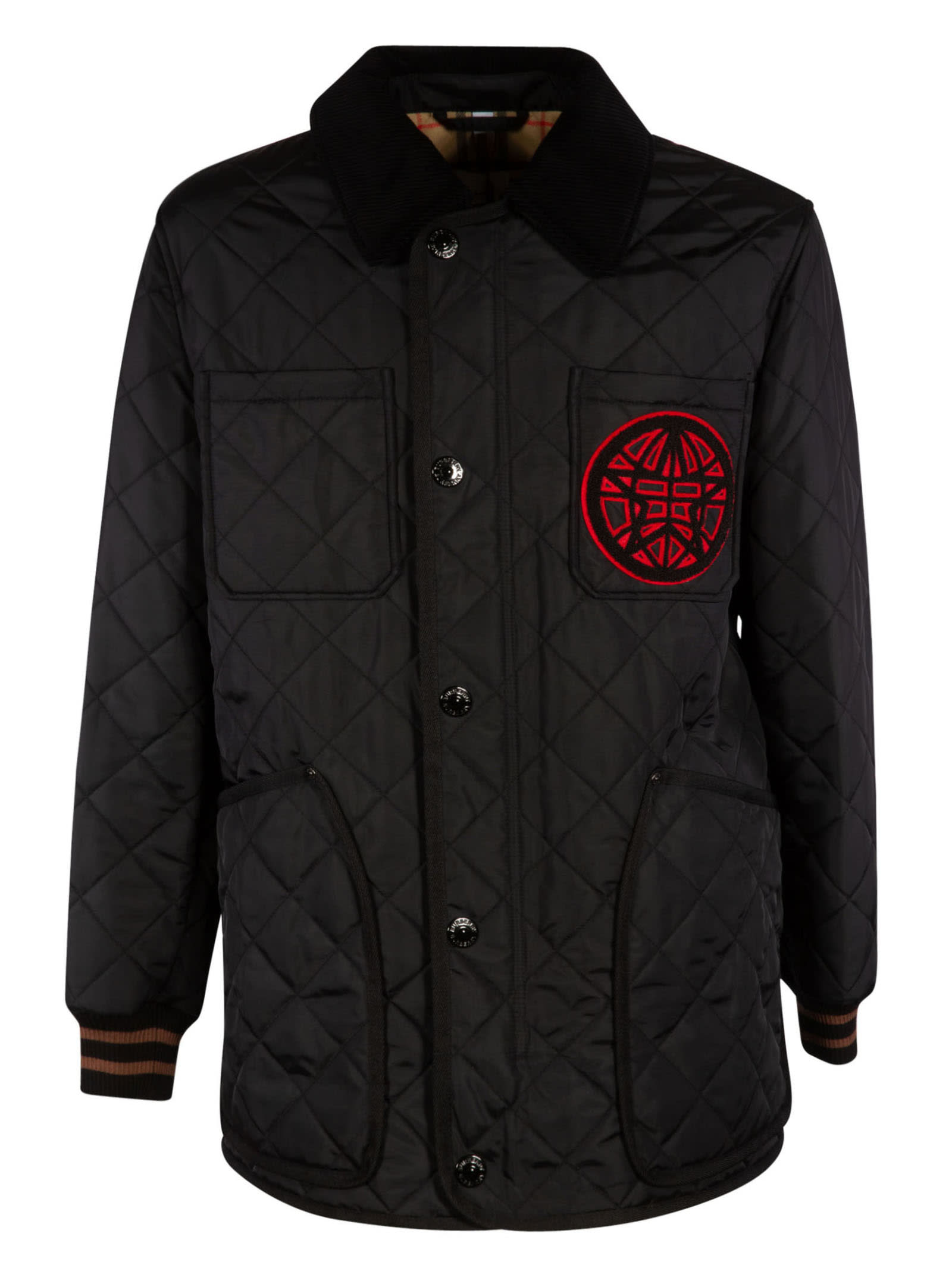 Burberry QUILTED BUTTONED JACKET