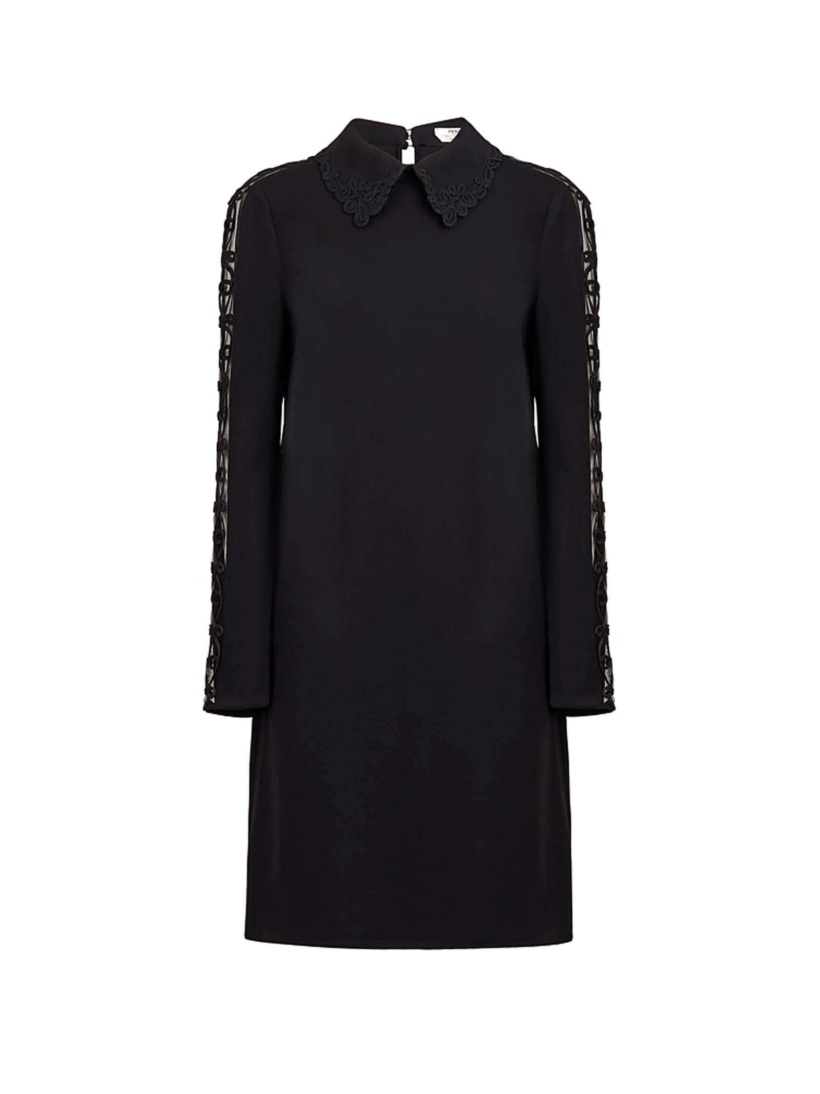 Fendi Fendi Lace Sleeve Shirt Dress