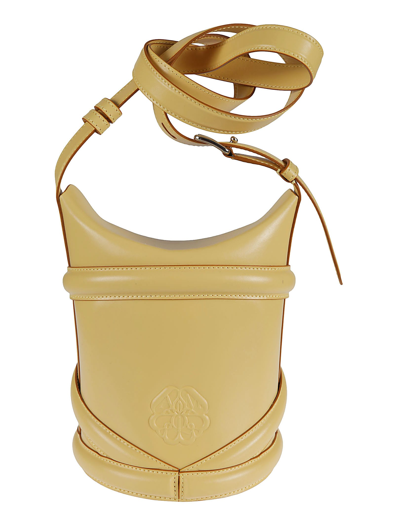 Alexander Mcqueen Leathers THE CURVE SMALL BUCKET BAG