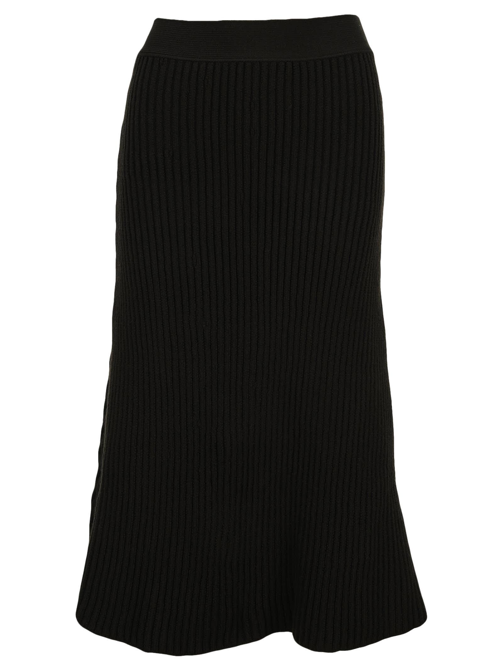 Bottega Veneta Ribbed Knit Midi Skirt