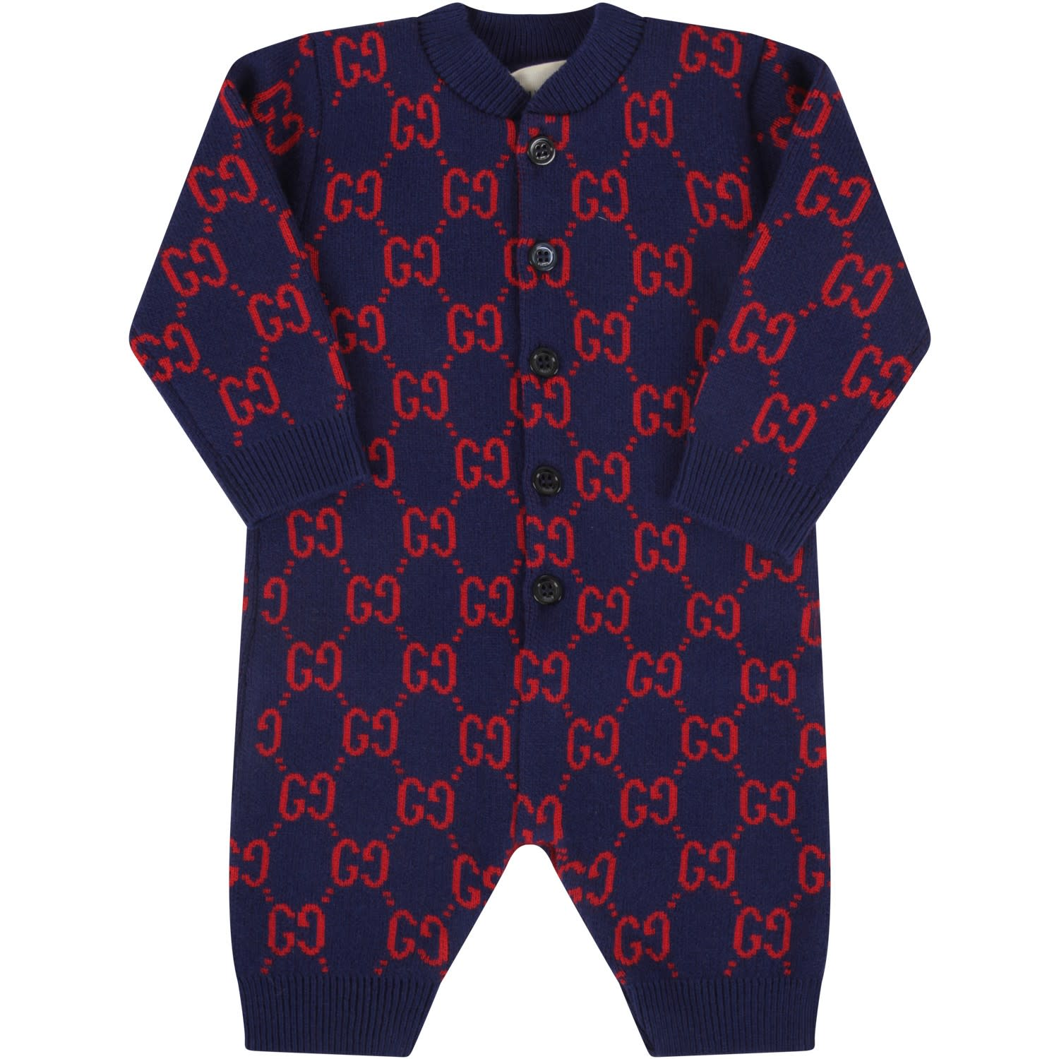 Gucci BLUE BABYBOY BABYGRO WITH DOUBLE GG