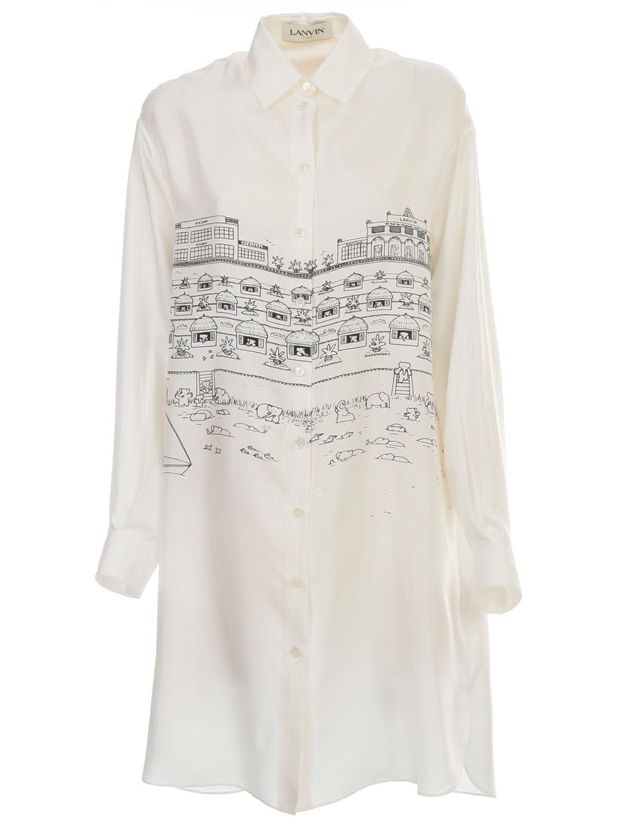 Buy Lanvin Dress L/s Shirt Neck online, shop Lanvin with free shipping