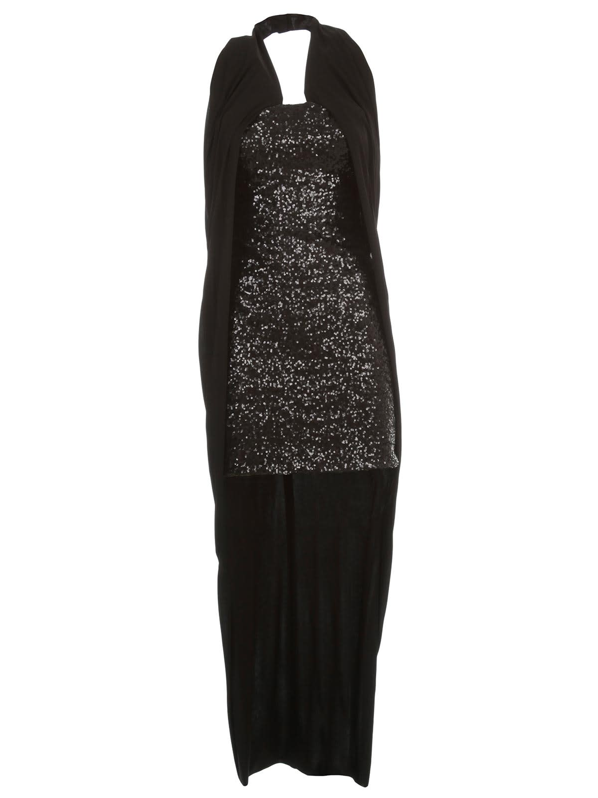 Buy Balmain Dress W/s Long W/drape online, shop Balmain with free shipping