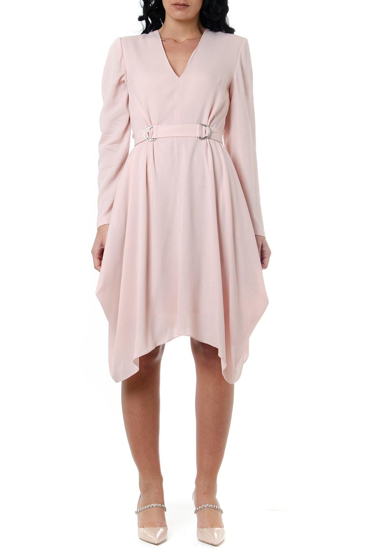 Buy Stella McCartney Lillie Pink Asymmetrical Hem Dress online, shop Stella McCartney with free shipping