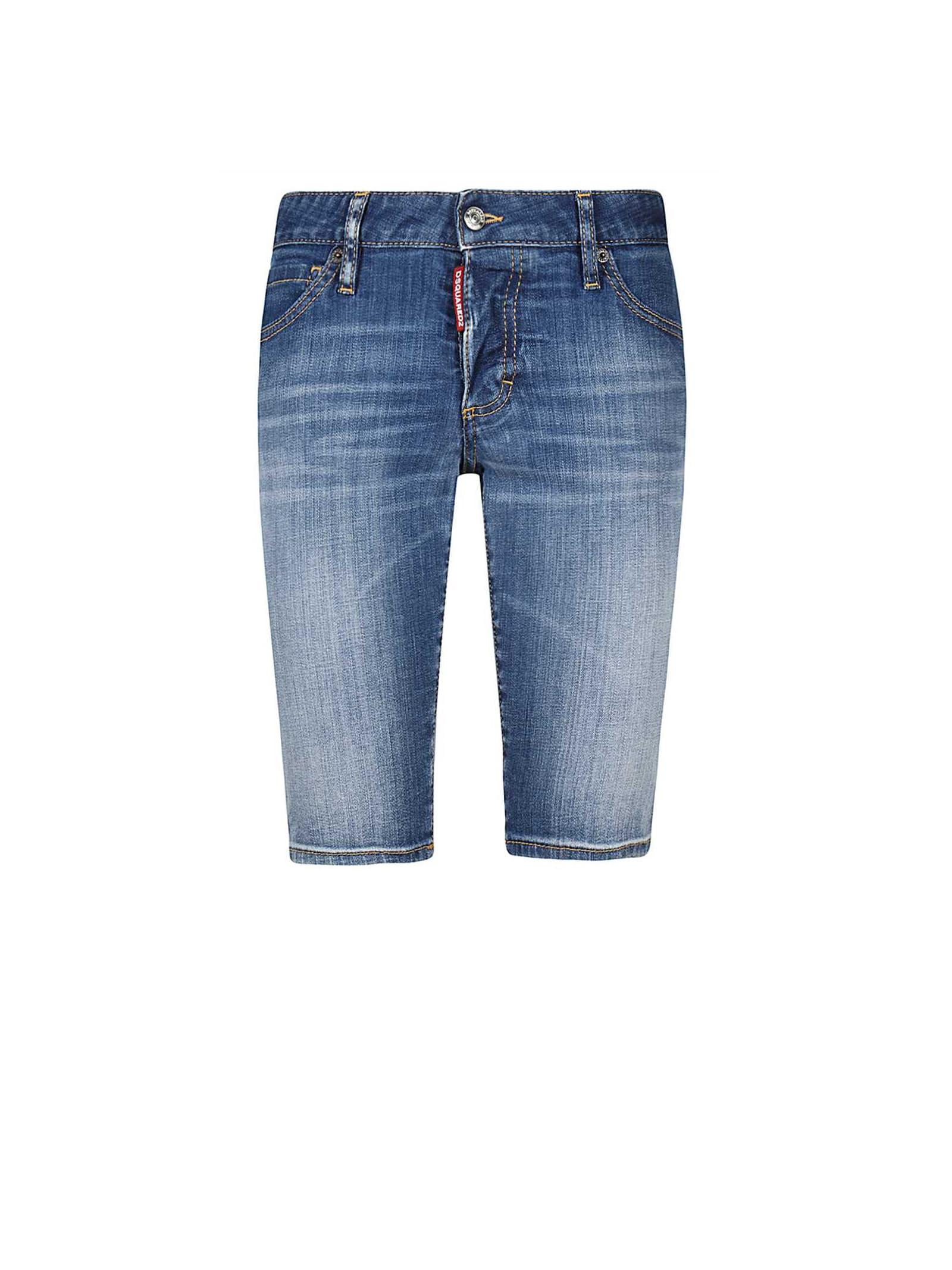 Dsquared2 Dsquared2 Knee-length Denim Shorts