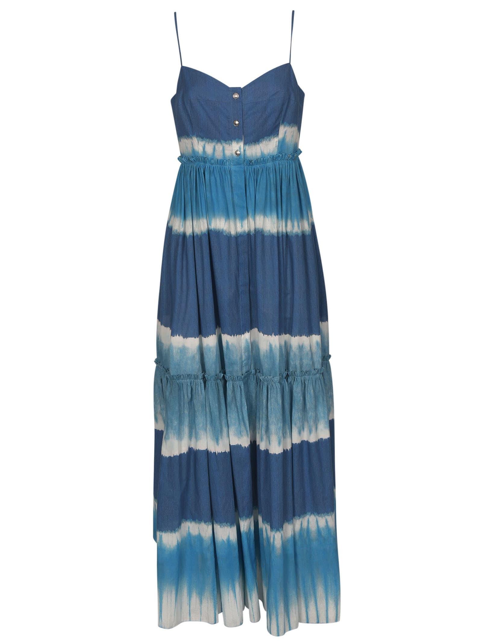 Buy Alberta Ferretti Stripe Patterned Dye Dress online, shop Alberta Ferretti with free shipping