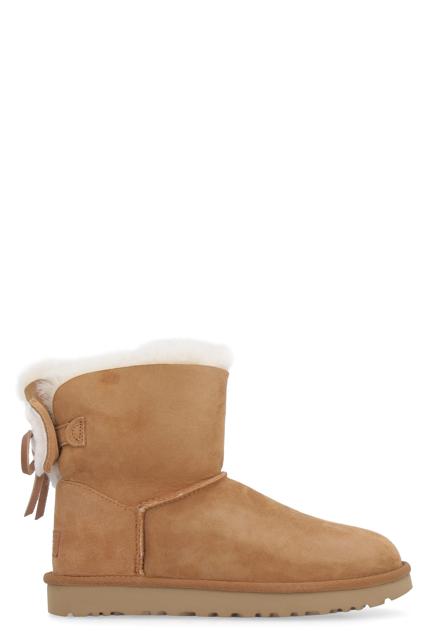 UGG Classic Double Bow Mini Suede Ankle Boots