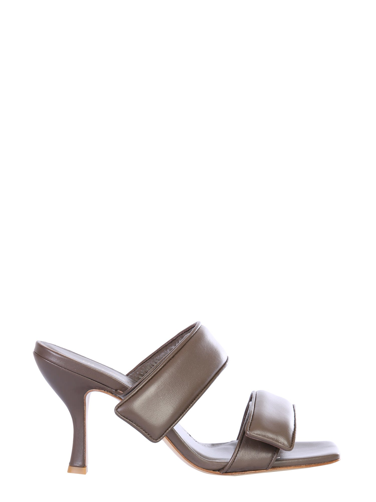 Gia Couture PADDED LEATHER SANDALS