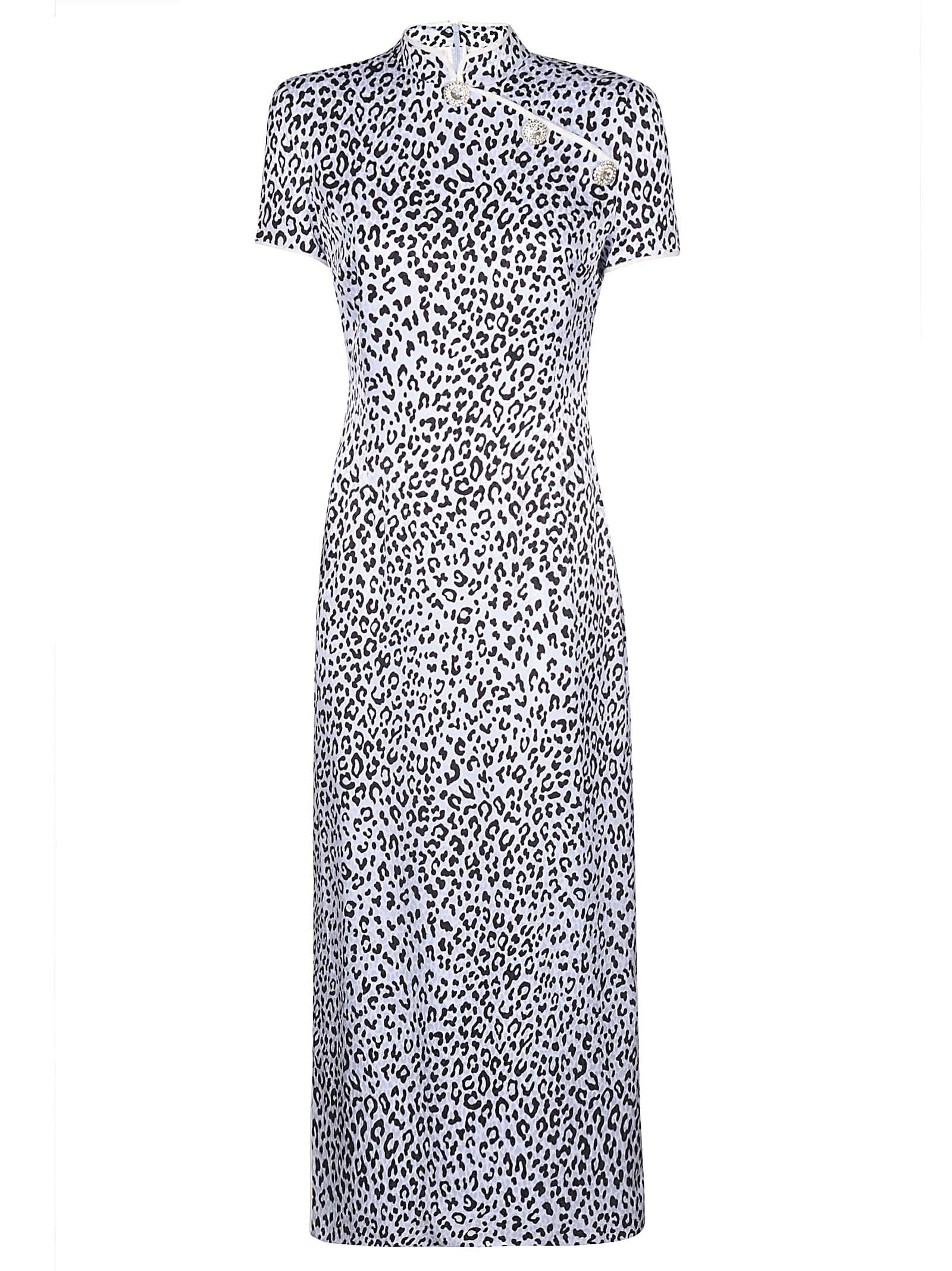 Alessandra Rich Silk Jacquard Dress