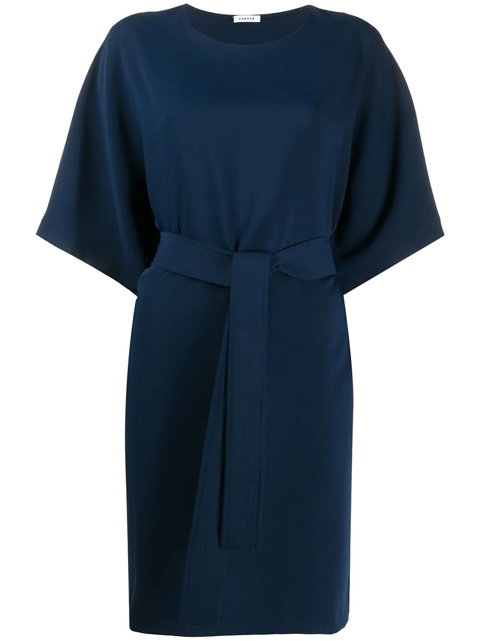 Parosh Panters Blue Dress