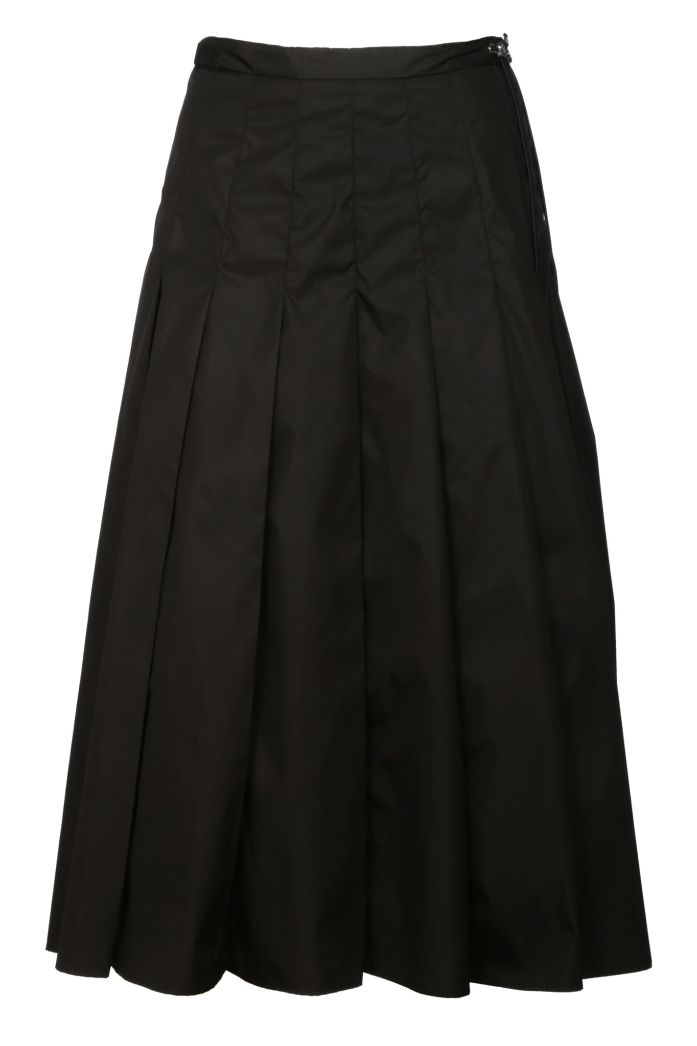 Buy Moncler Pleated Flared Dress online, shop Moncler with free shipping