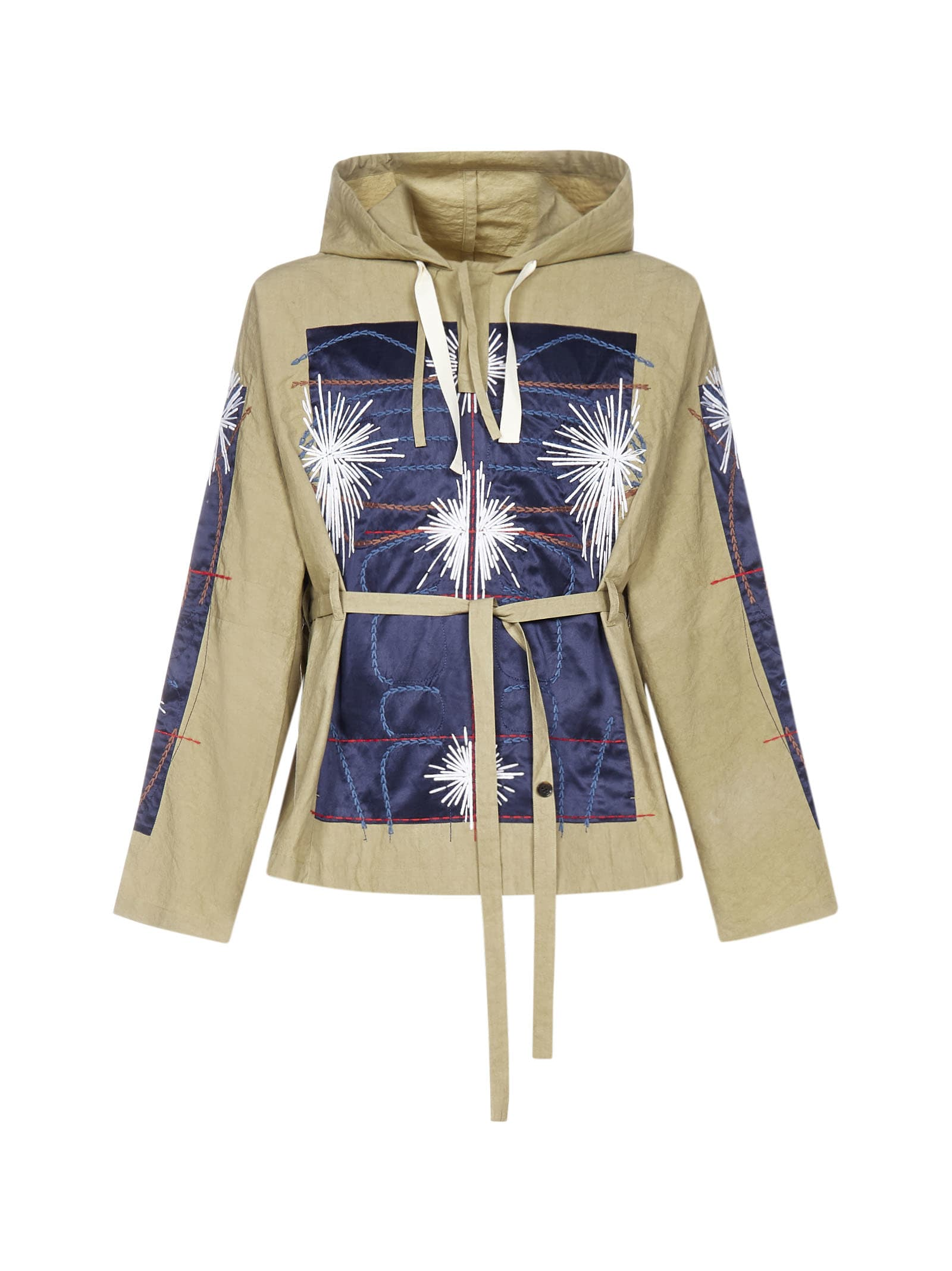 Craig Green Embroidered Cotton Hooded Jacket