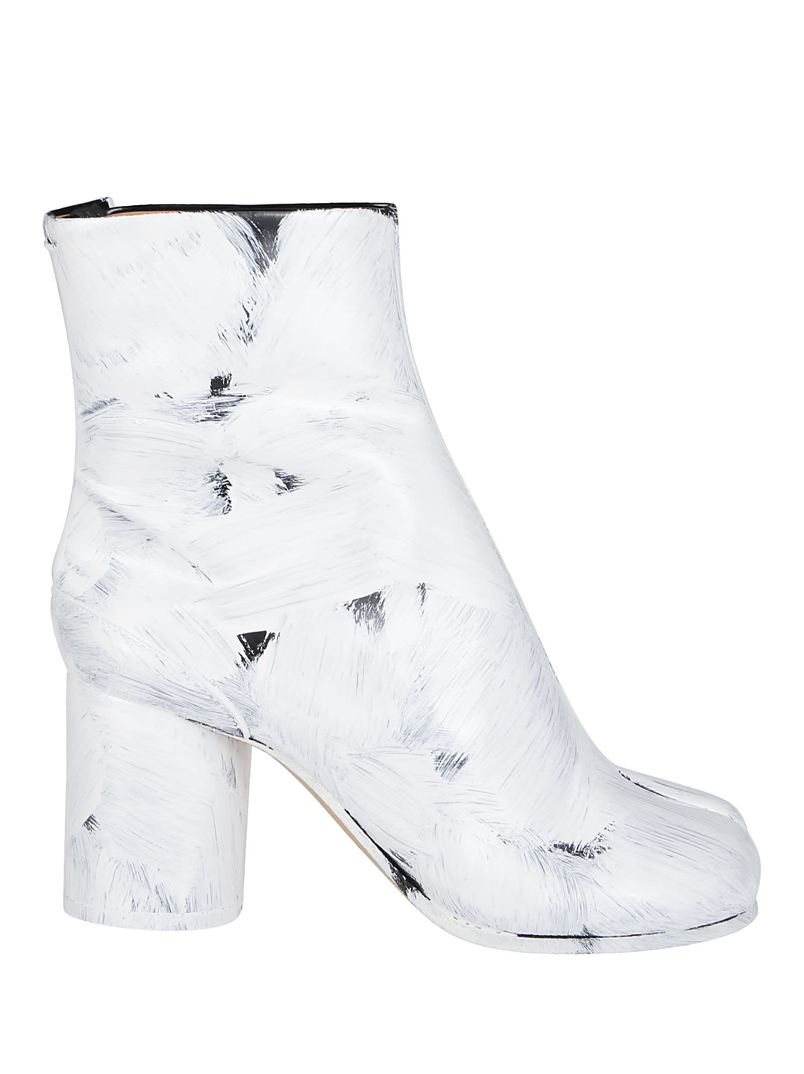 Maison Margiela WHITE LEATHER TABI BOOTS