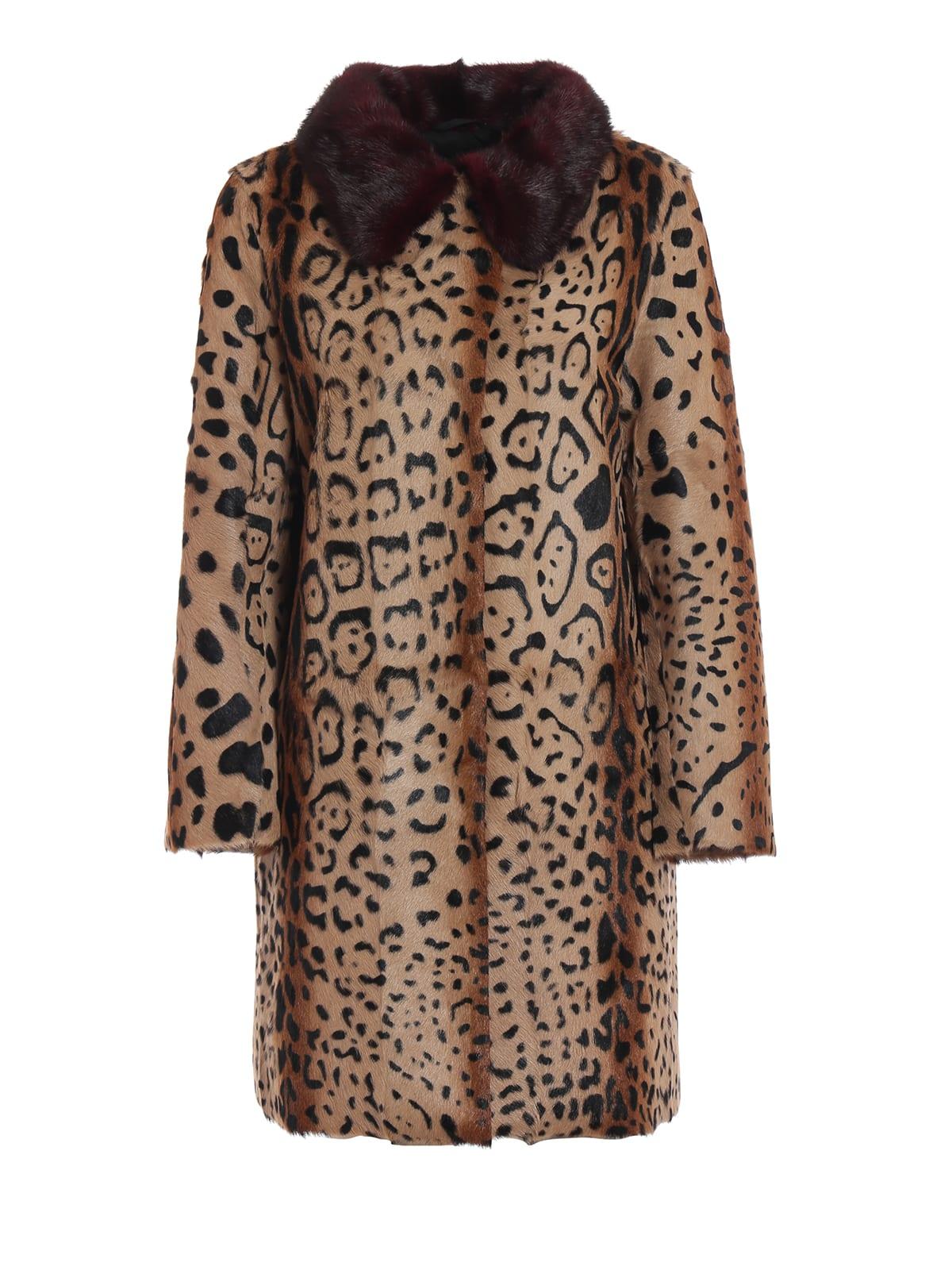 S.W.O.R.D 6.6.44 Leopard Print Detail Coat
