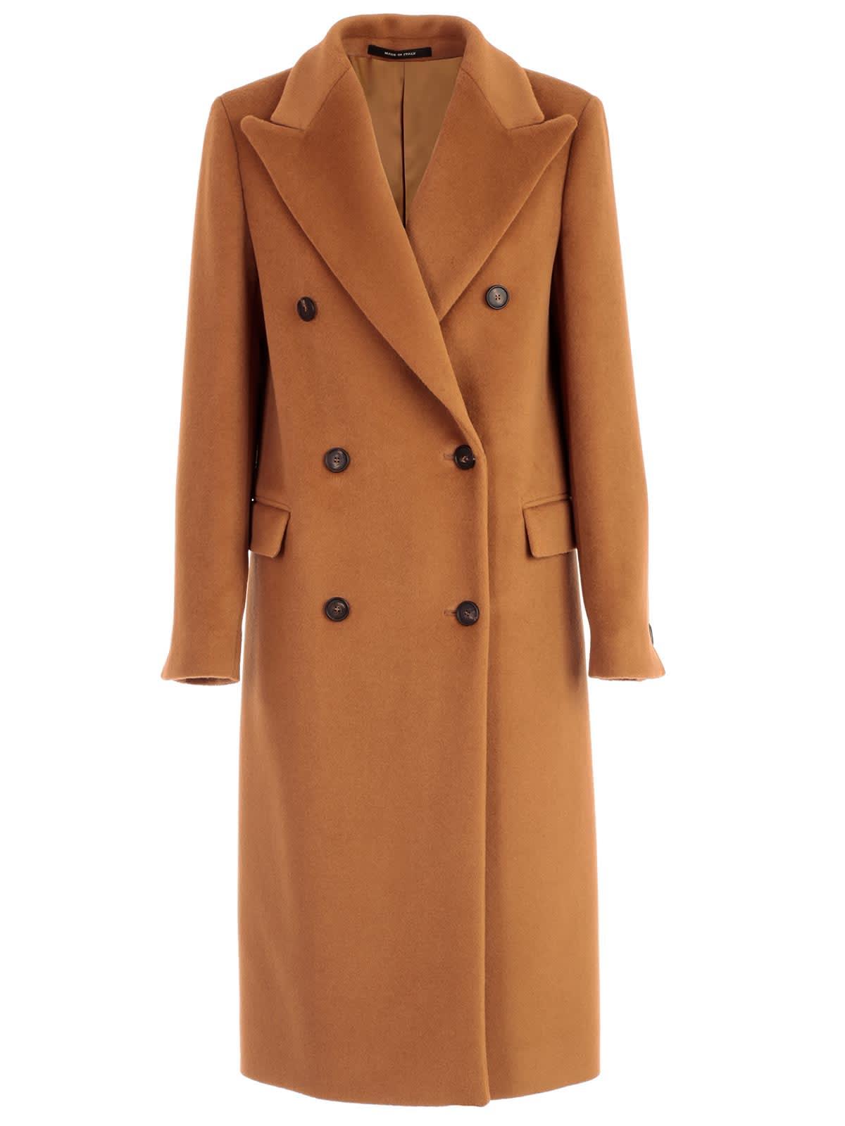 Photo of  Tagliatore Coat Double Breasted W/belt- shop Tagliatore jackets online sales