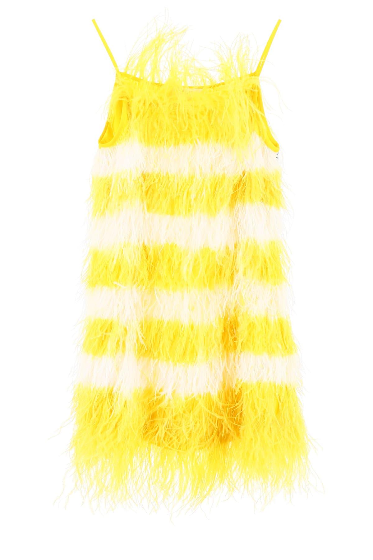 MSGM Bicolor Feather Dress