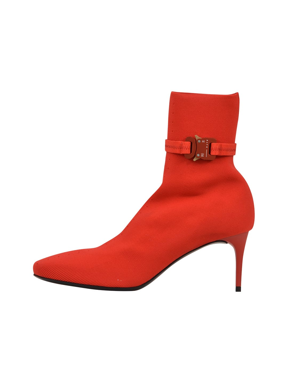1017 ALYX 9SM 6 Cm Knit Stretch Boots Red