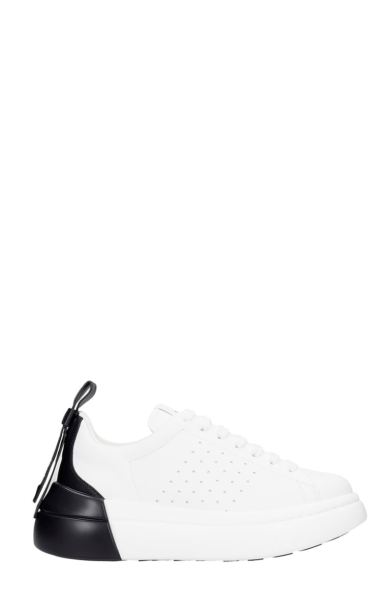 Red Valentino Leathers SNEAKERS IN WHITE LEATHER