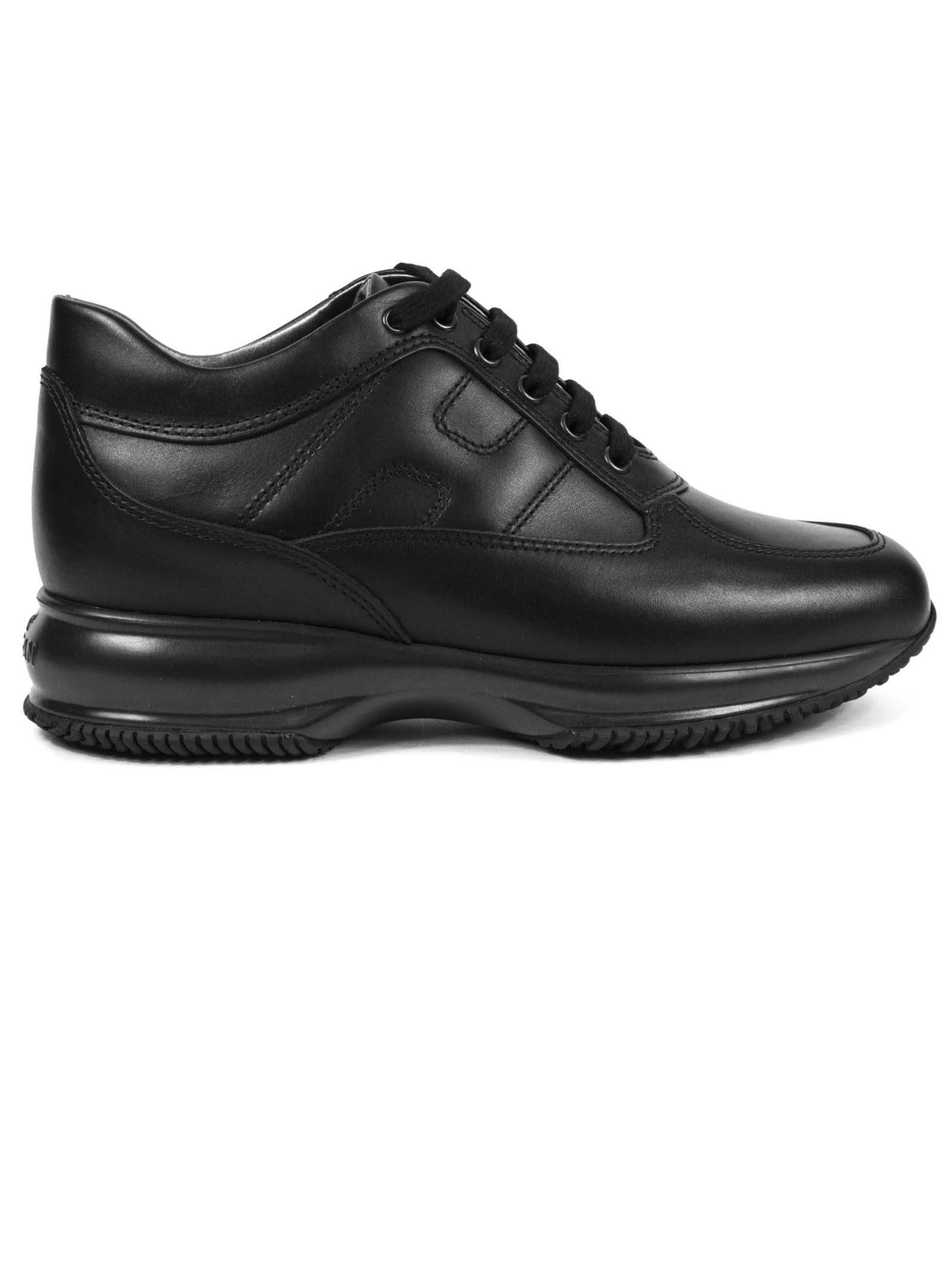 Hogan Black Interactive Sneakers