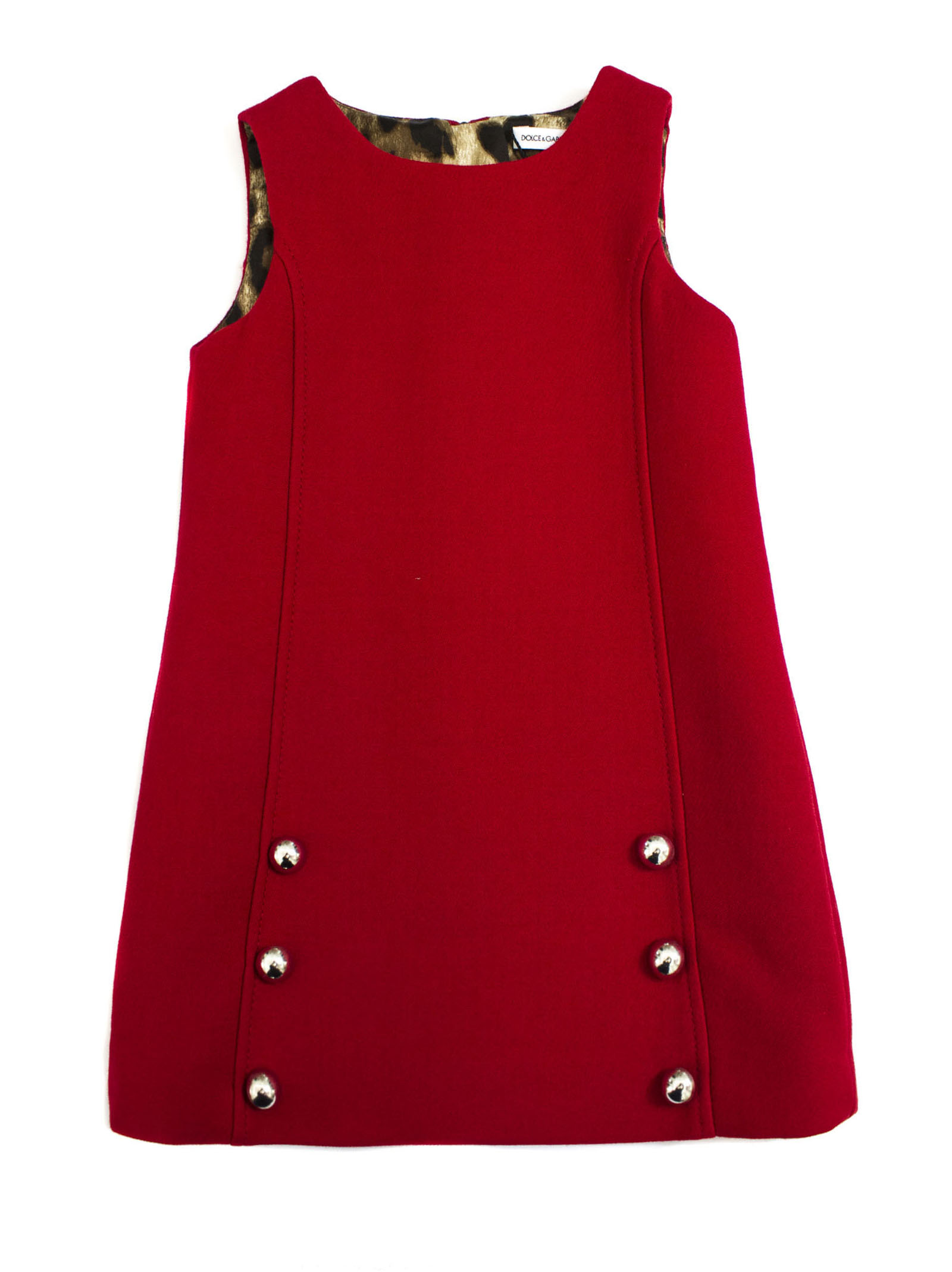 Buy Dolce & Gabbana Red Double Crepe Dress online, shop Dolce & Gabbana with free shipping