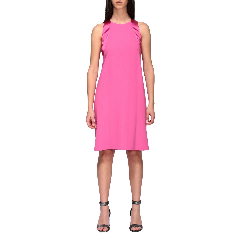 Buy Emporio Armani Dress Emporio Armani Crepe Dress online, shop Emporio Armani with free shipping