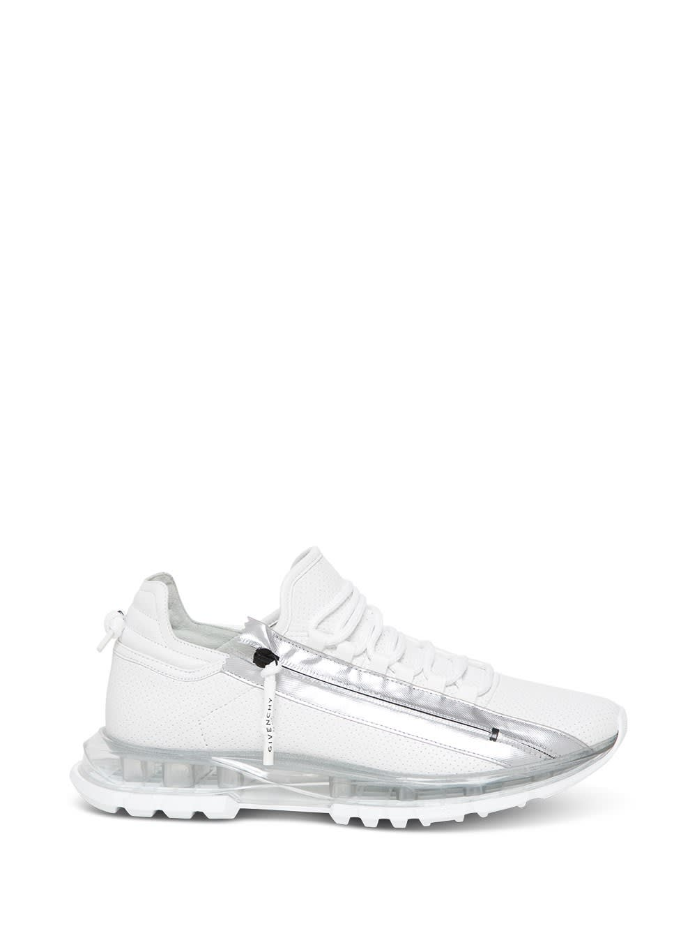 Givenchy SNEAKERS SPECTRE LEATHER PERFORATED TRANSPARENT SOLE