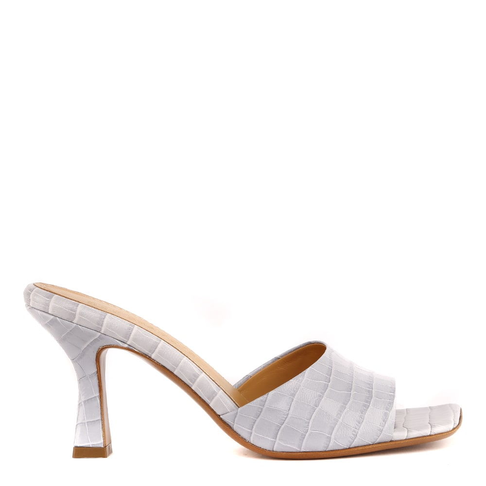 Embossed Leather Open Toe Sandals
