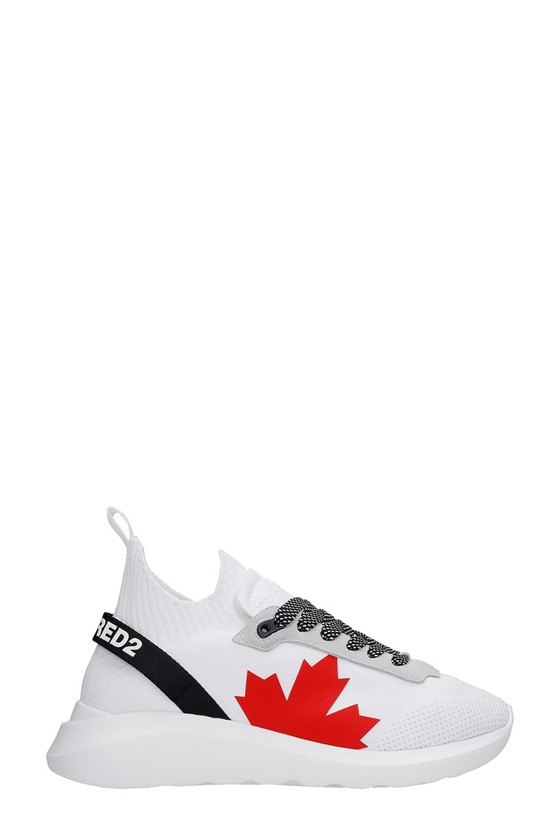 Dsquared2 SPEEDSTER SNEAKERS IN WHITE SYNTHETIC FIBERS
